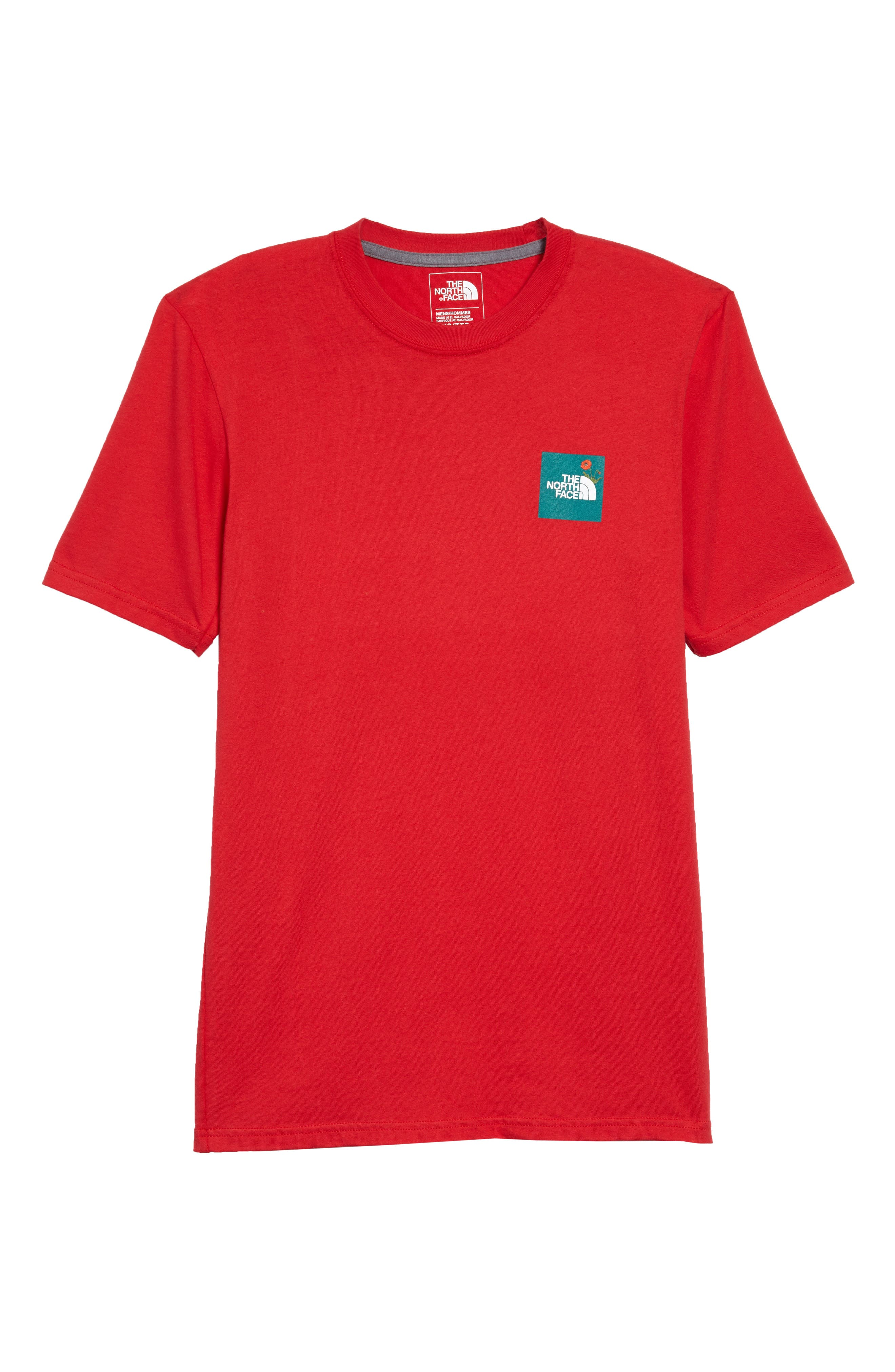 Graphic Unisex T-Shirt,                         Main,                         color, Tnf Red