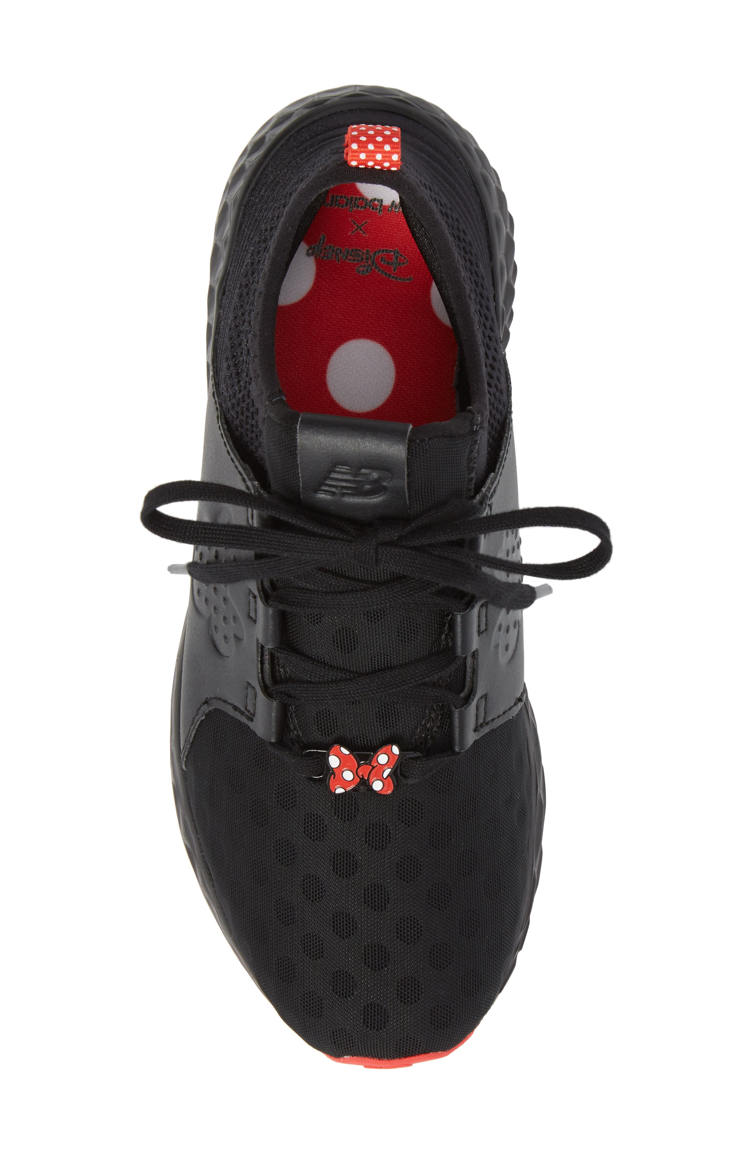 x Disney Minnie Mouse Cruz Sport Sneaker,                             Alternate thumbnail 5, color,                             Black/ Red