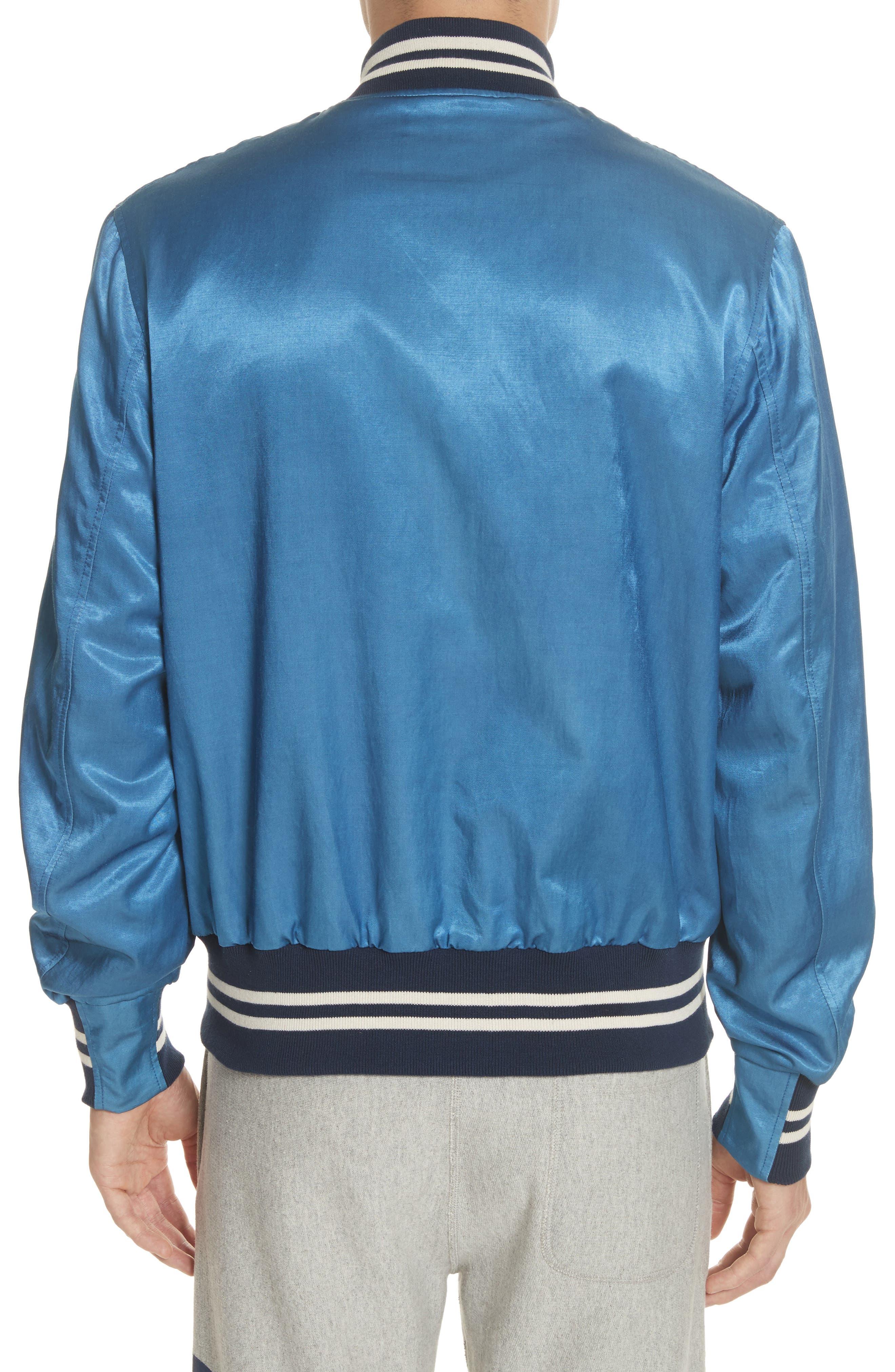 + Champion Bomber Jacket,                             Alternate thumbnail 2, color,                             Indigo