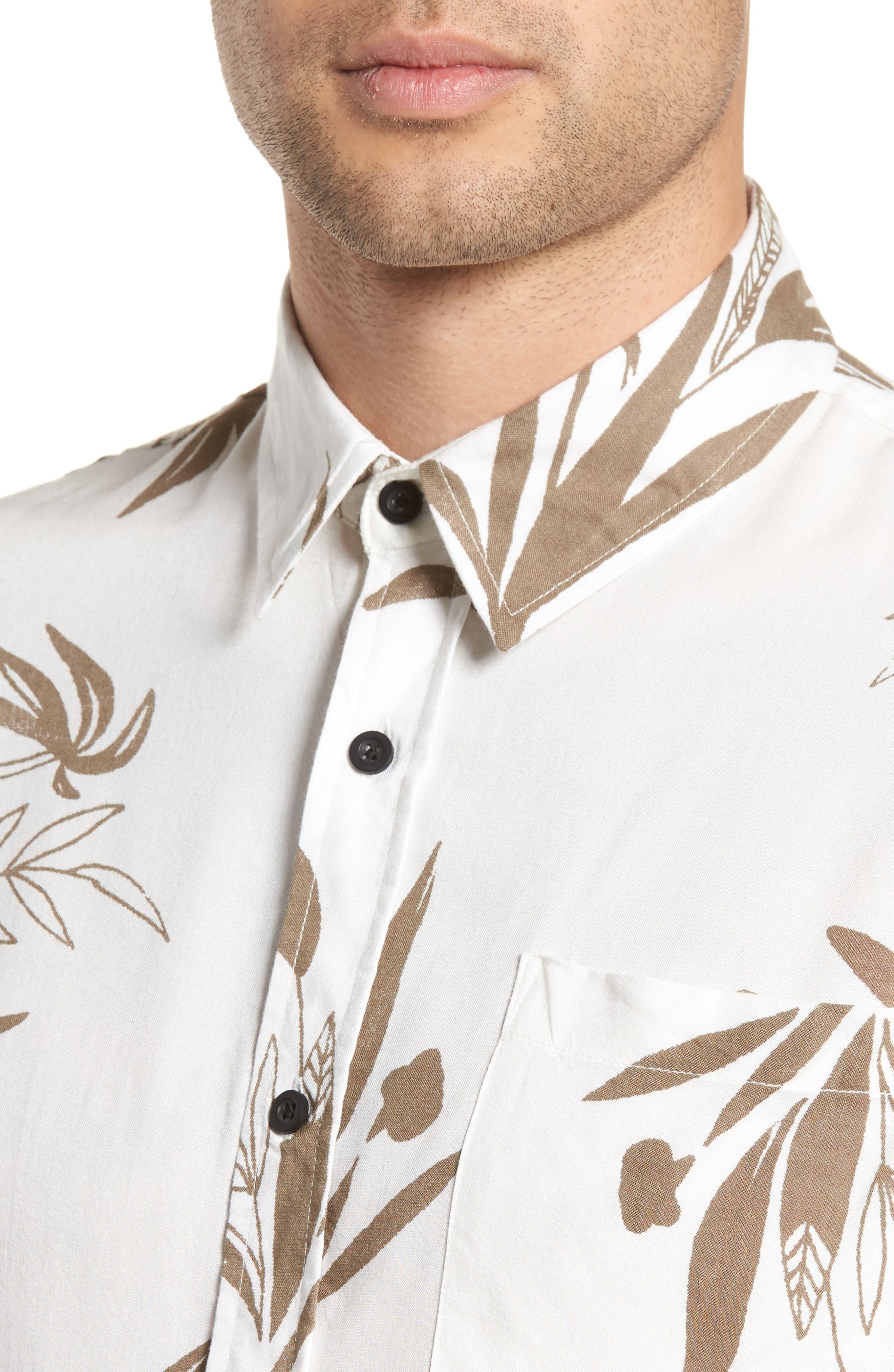 Simmer Short Sleeve Shirt,                             Alternate thumbnail 4, color,                             Vintage White