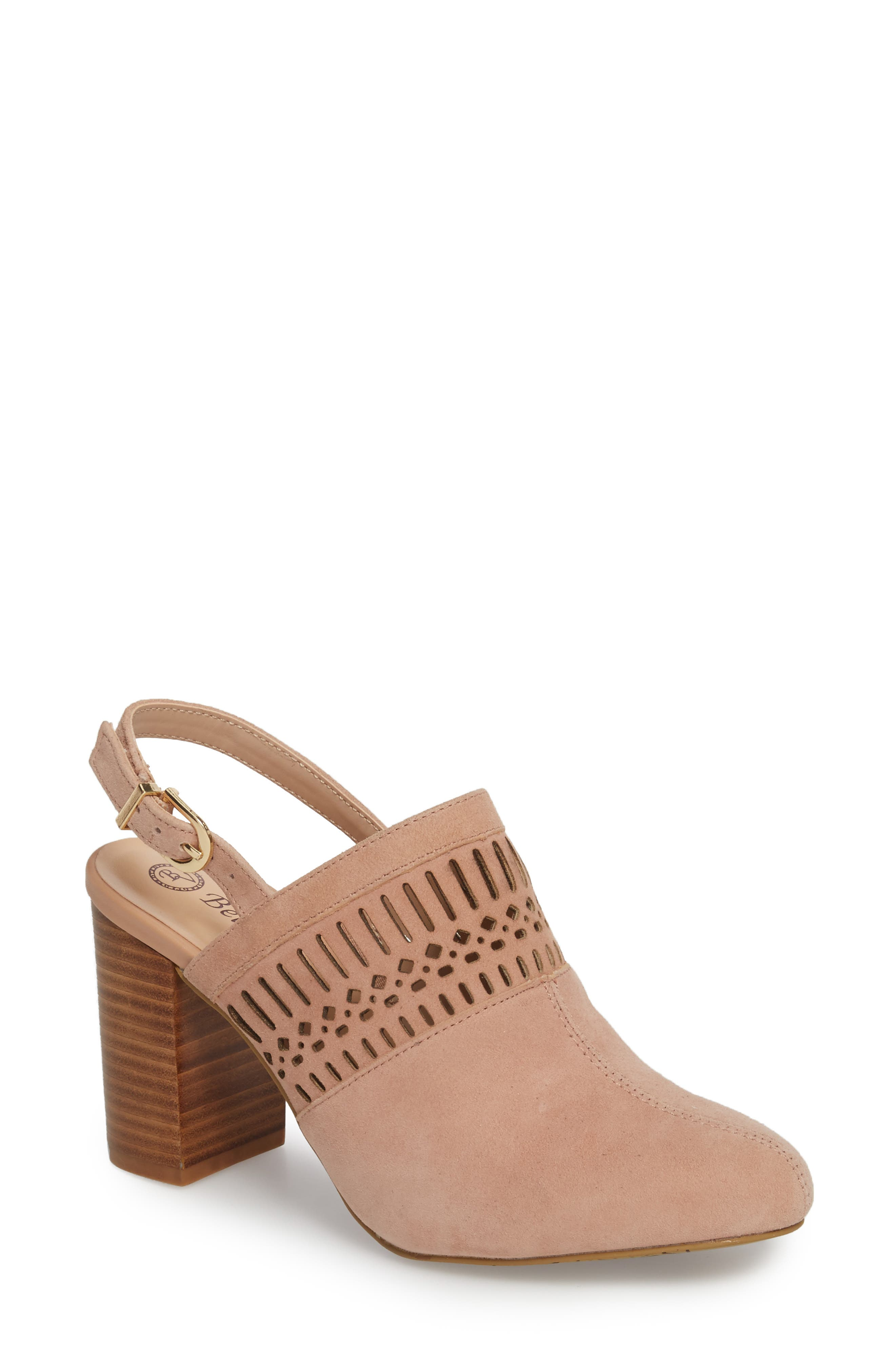 Nox Slingback Perforated Pump,                         Main,                         color, Blush Suede