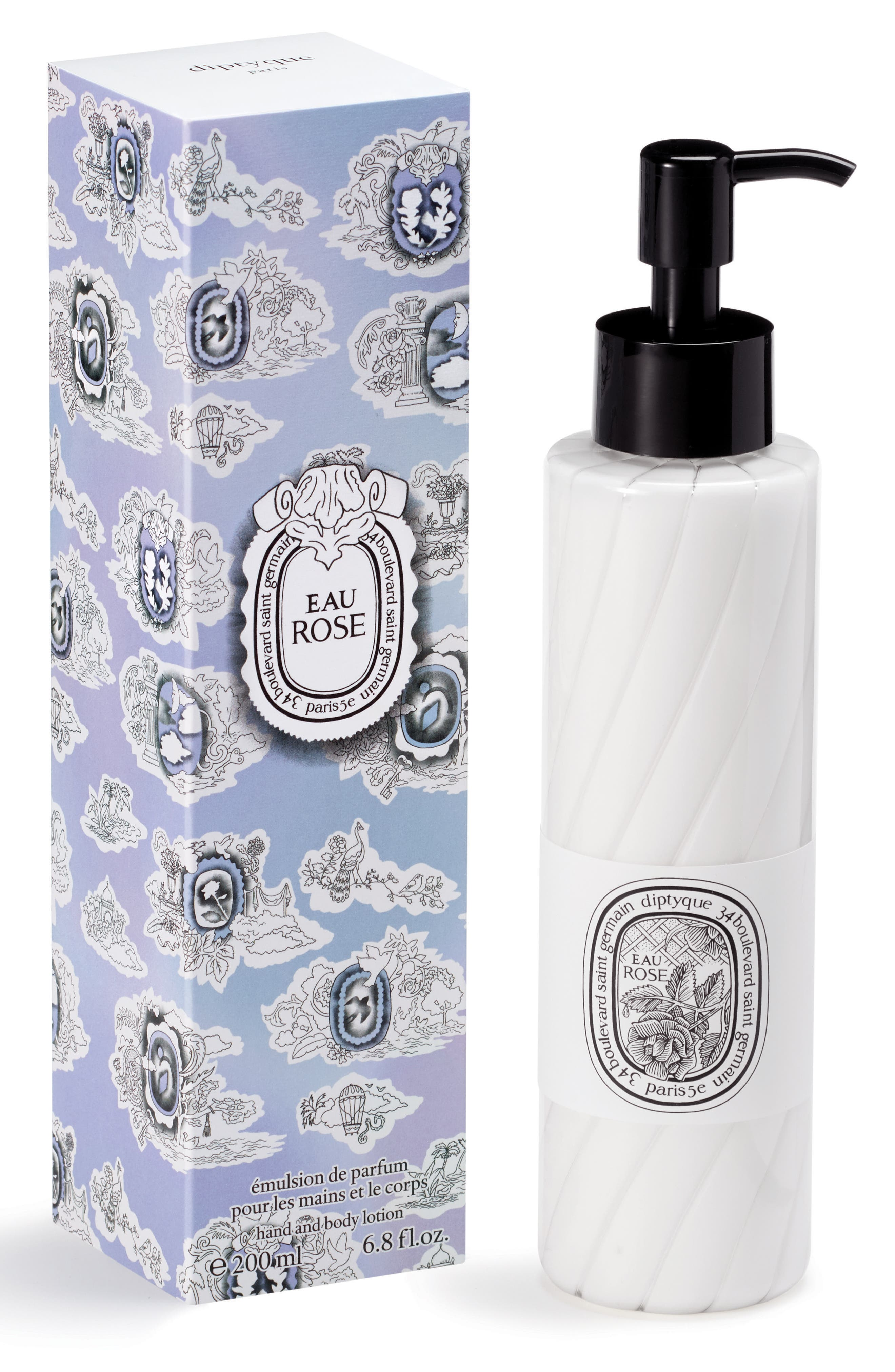 Eau Rose Hand and Body Lotion,                             Main thumbnail 1, color,                             No Color