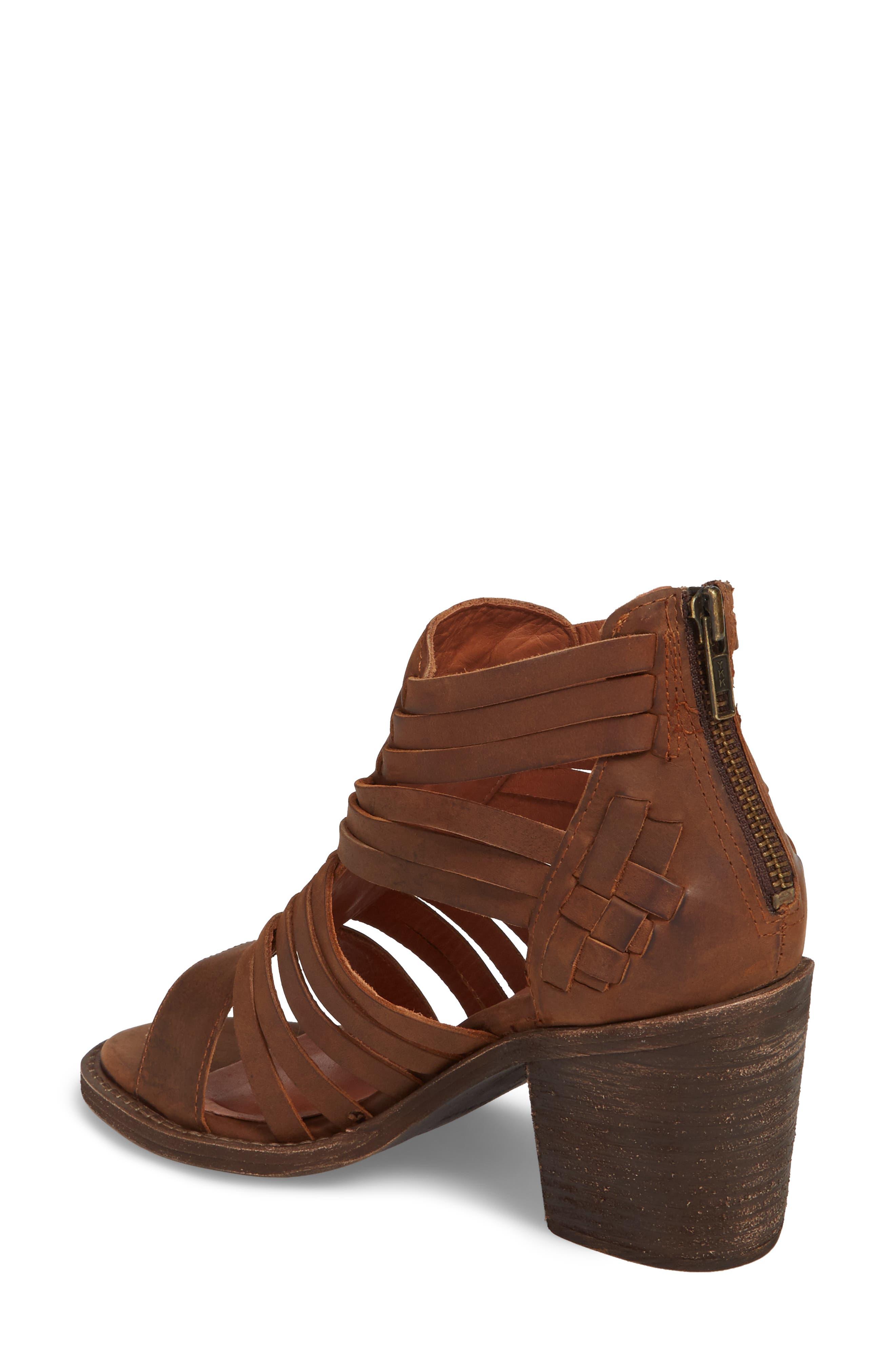 Felice Sandal,                             Alternate thumbnail 2, color,                             Brown Leather