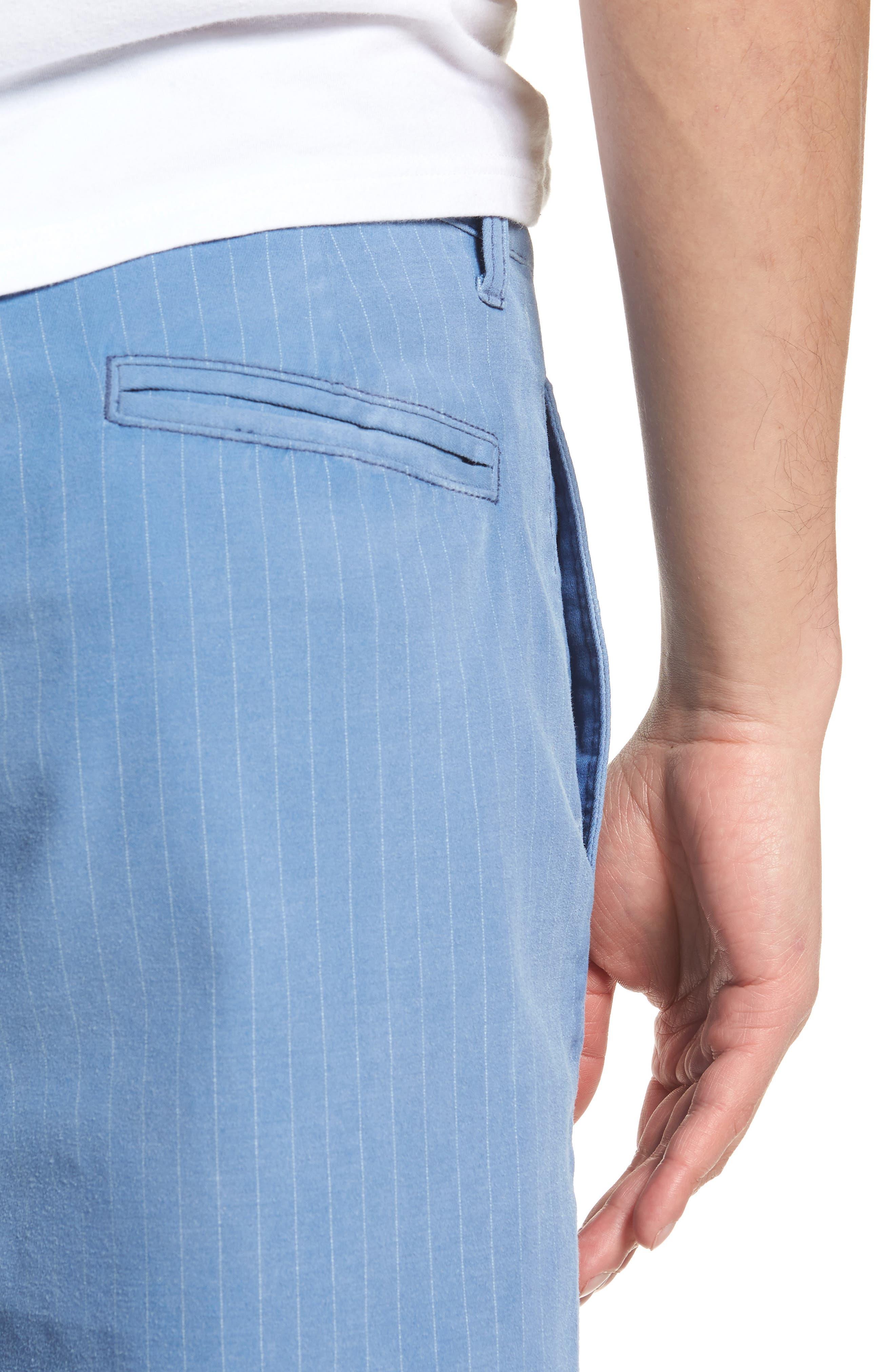 Print Frost Wash Shorts,                             Alternate thumbnail 4, color,                             Blue Camp Stripe