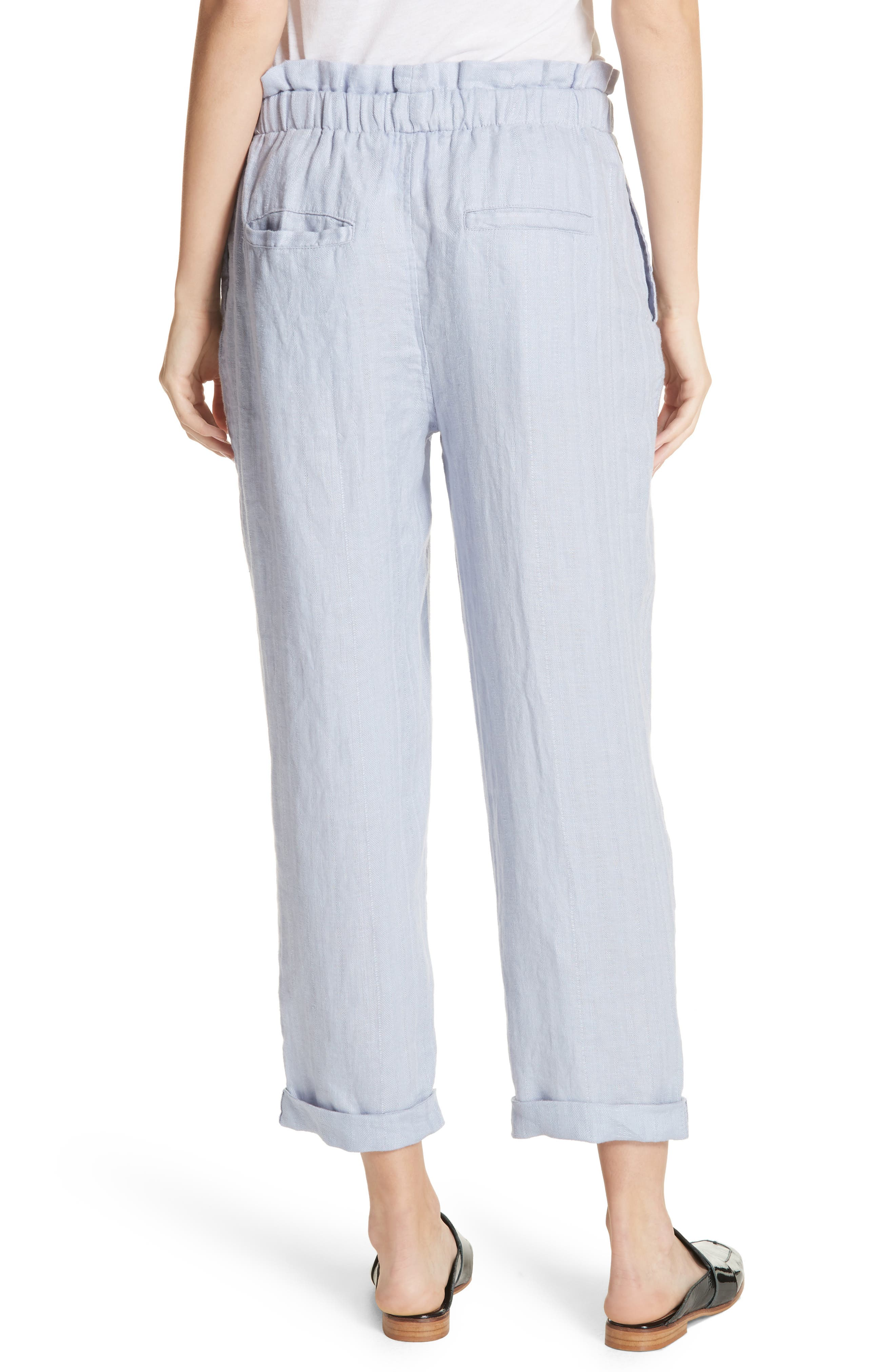 Only over You Linen Trousers,                             Alternate thumbnail 2, color,                             Pearl