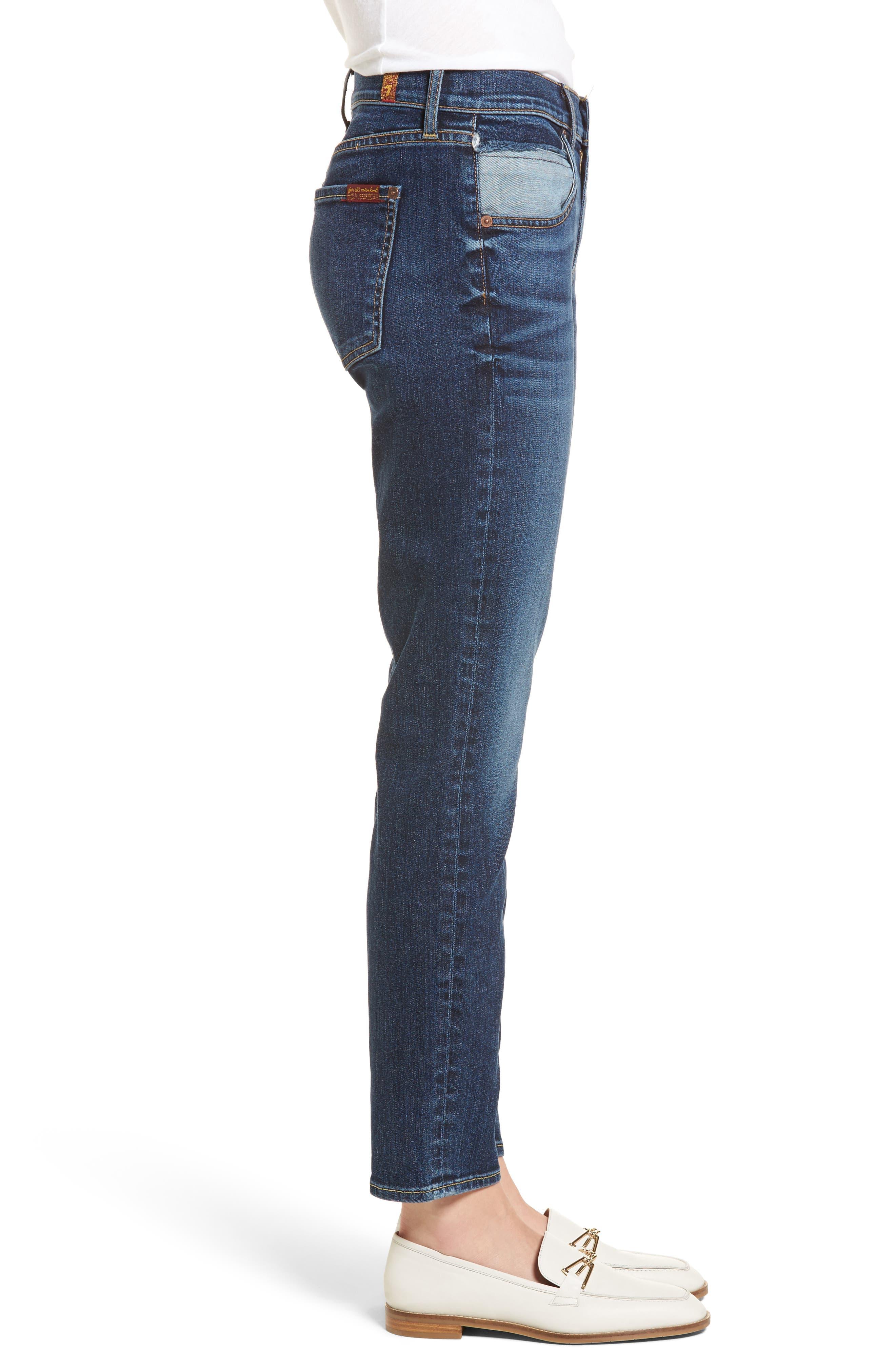Roxanne Pieced Pocket Ankle Skinny Jeans,                             Alternate thumbnail 3, color,                             Midnight Desert