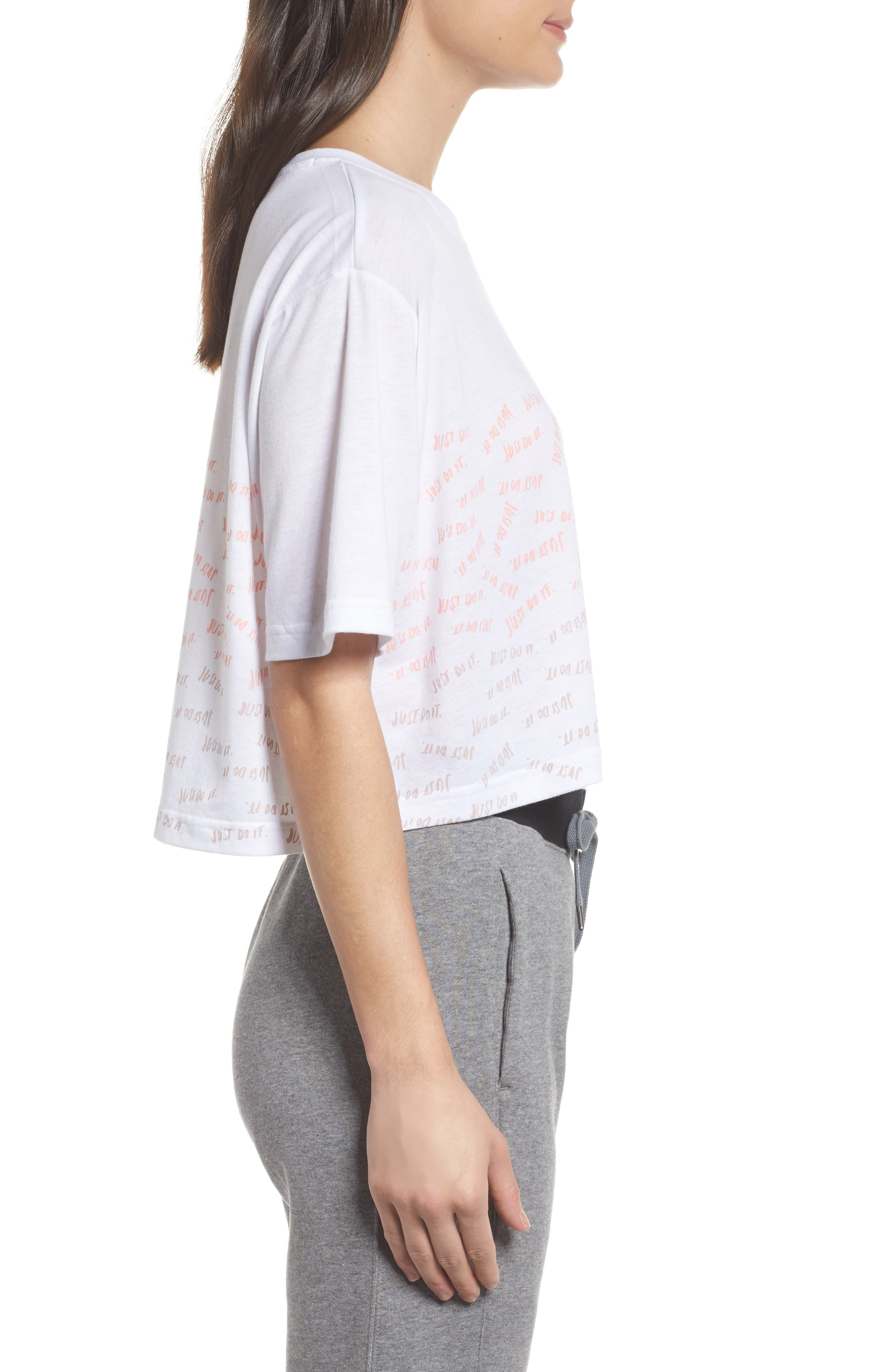 Sportswear Just Do It Tee,                             Alternate thumbnail 6, color,                             White