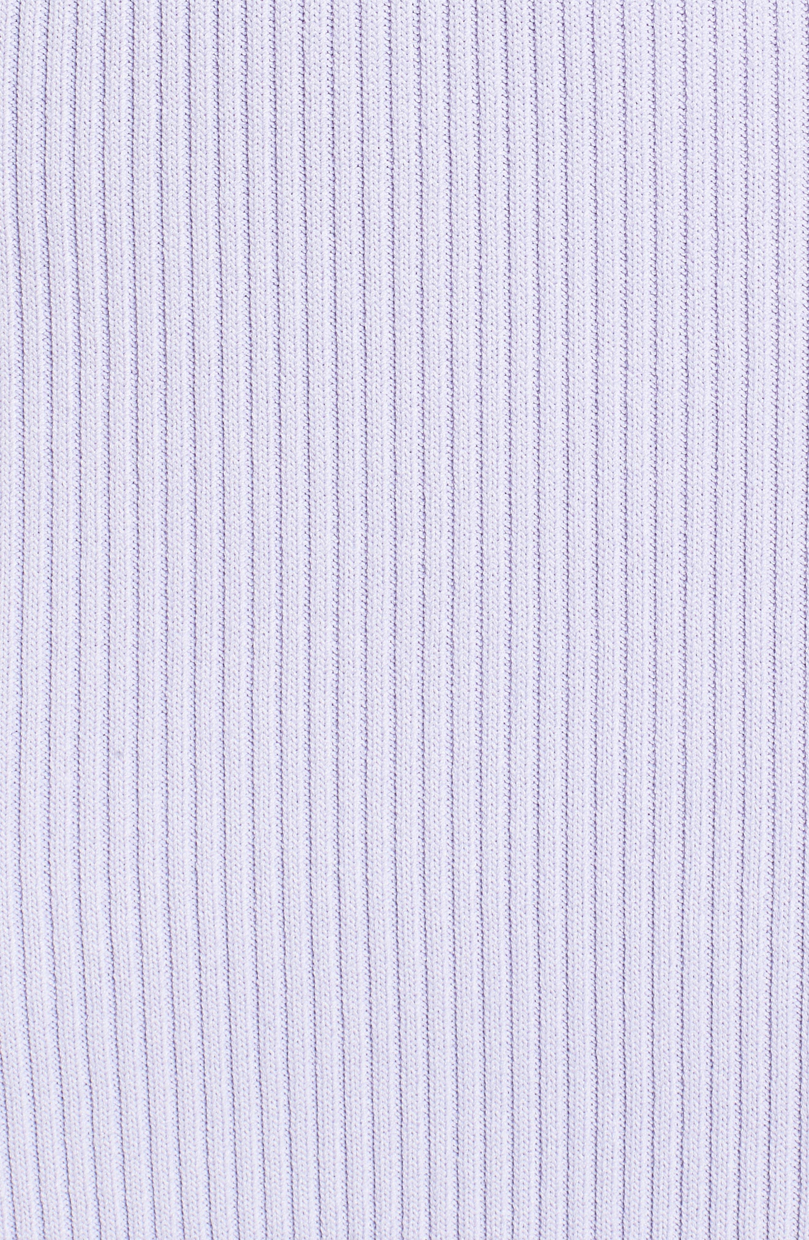 V-Neck Rib Knit Sweater Dress,                             Alternate thumbnail 5, color,                             Light Quartz