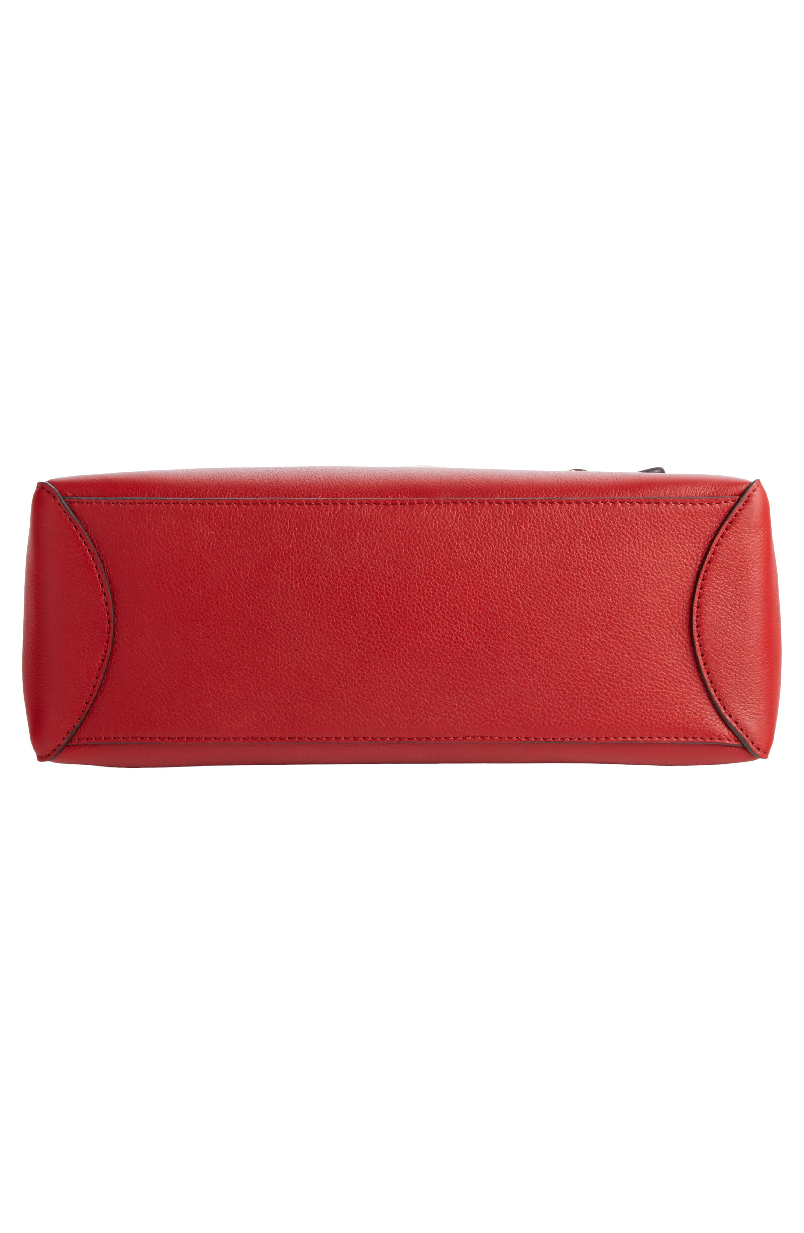 Small Faye Day Leather Shoulder Bag,                             Alternate thumbnail 5, color,                             Dahlia Red
