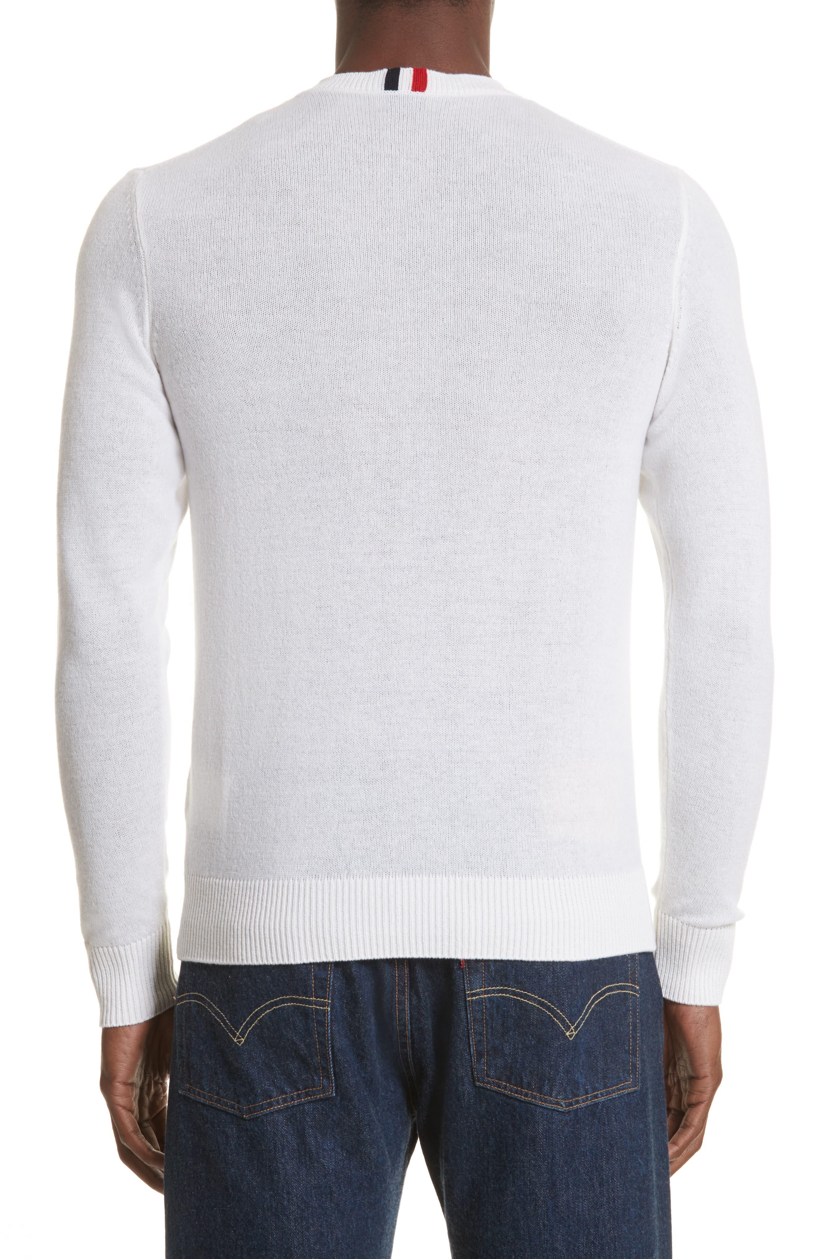 Cashmere Crewneck Sweater,                             Alternate thumbnail 2, color,                             White