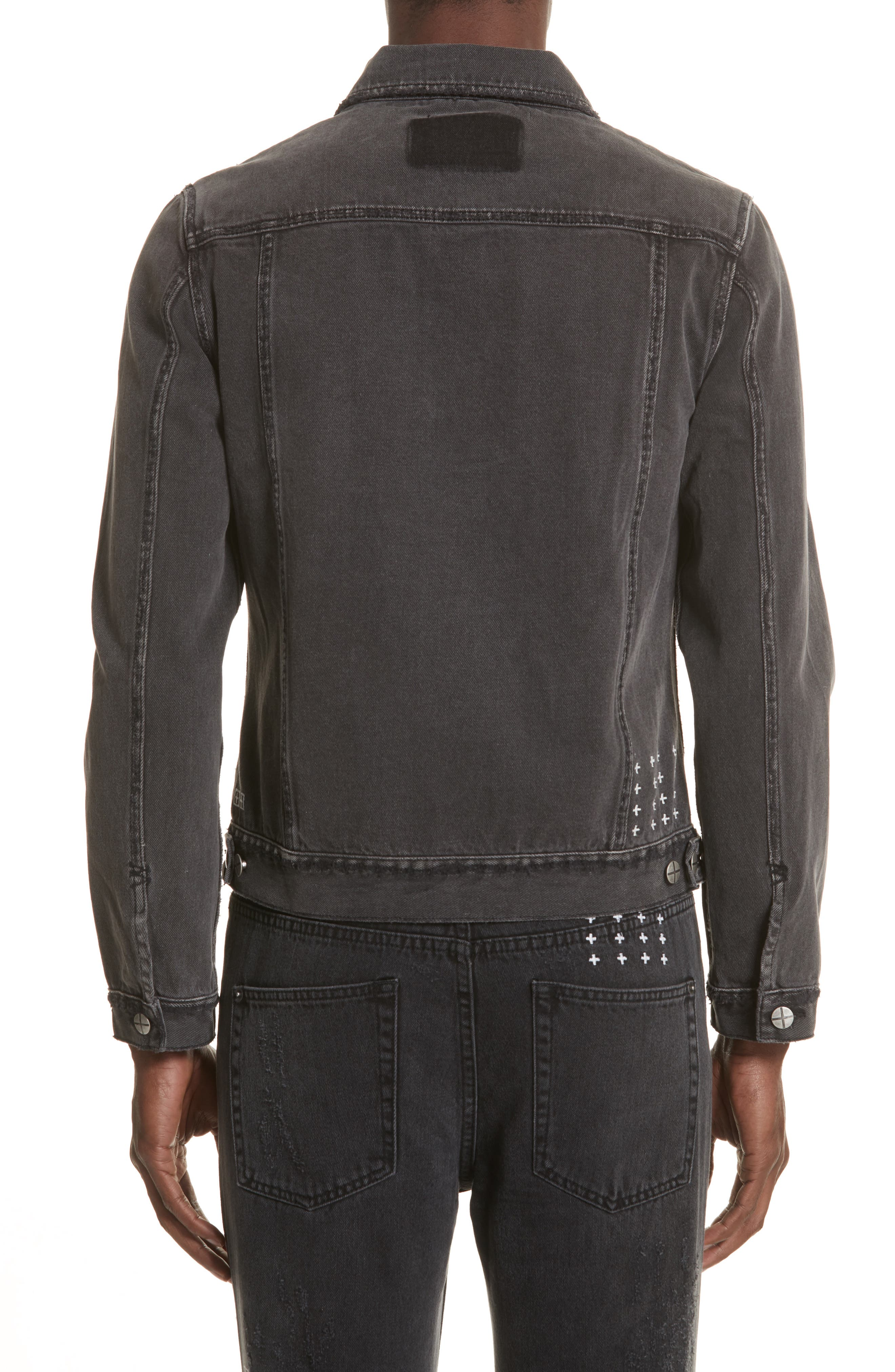 Classic Denim Jacket,                             Alternate thumbnail 2, color,                             Black