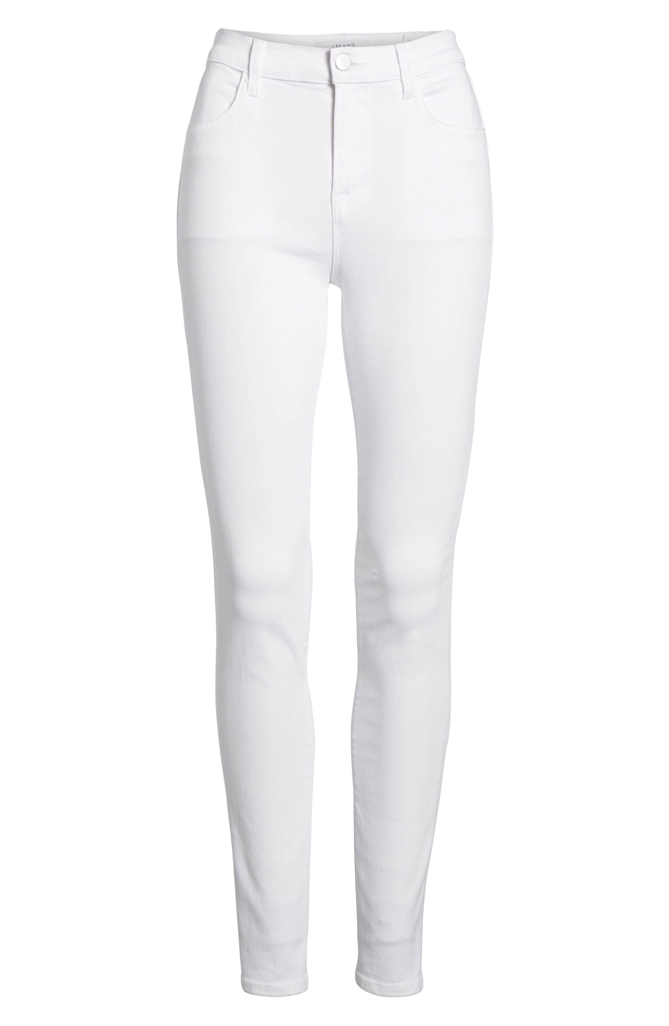 Maria High Waist Skinny Jeans,                             Alternate thumbnail 7, color,                             White