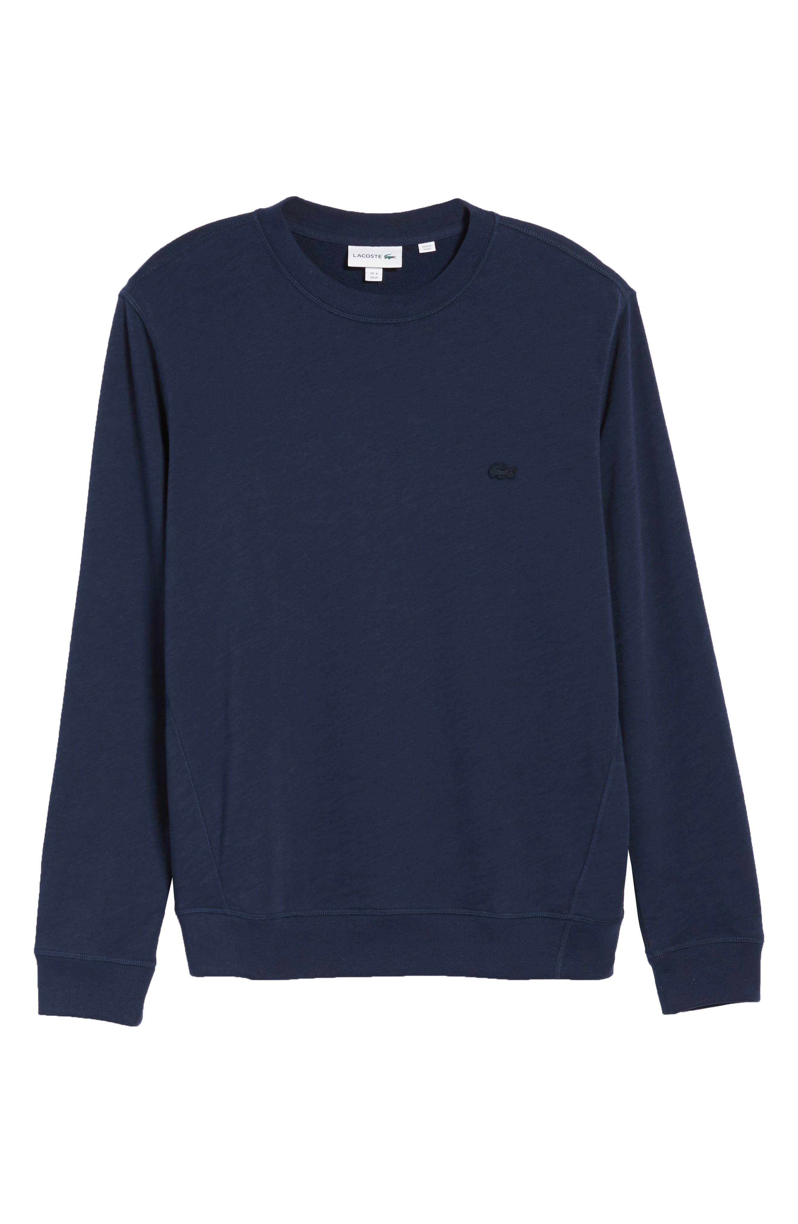 Slim Fit French Terry Sweatshirt,                             Alternate thumbnail 6, color,                             Navy Blue