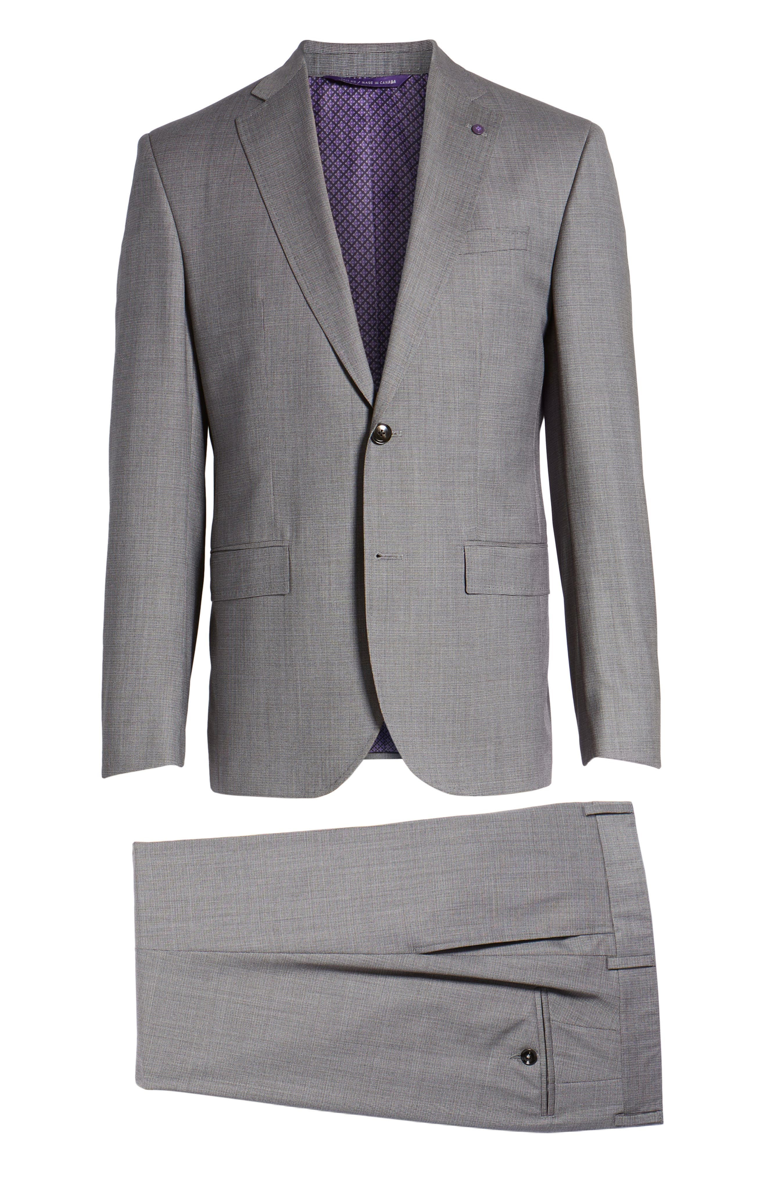 Roger Extra Slim Fit Solid Wool Suit,                             Alternate thumbnail 8, color,                             Taupe