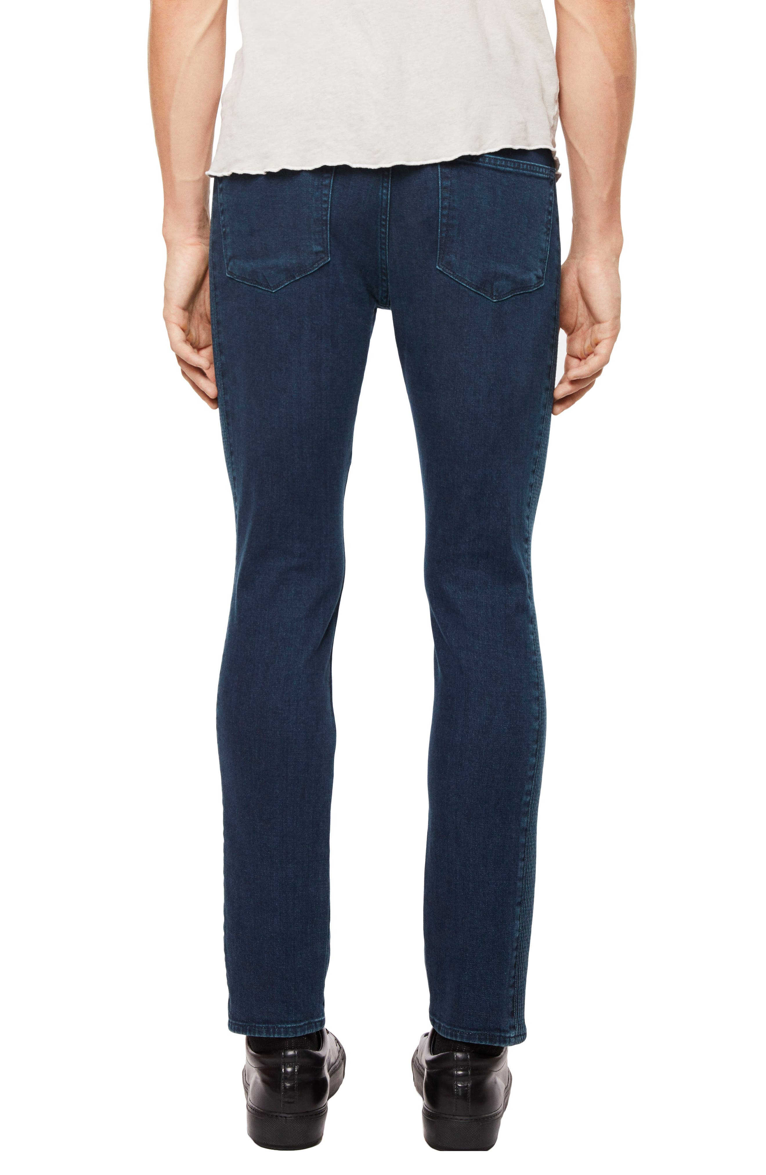 Moto Skinny Fit Jeans,                             Alternate thumbnail 2, color,                             Afantic