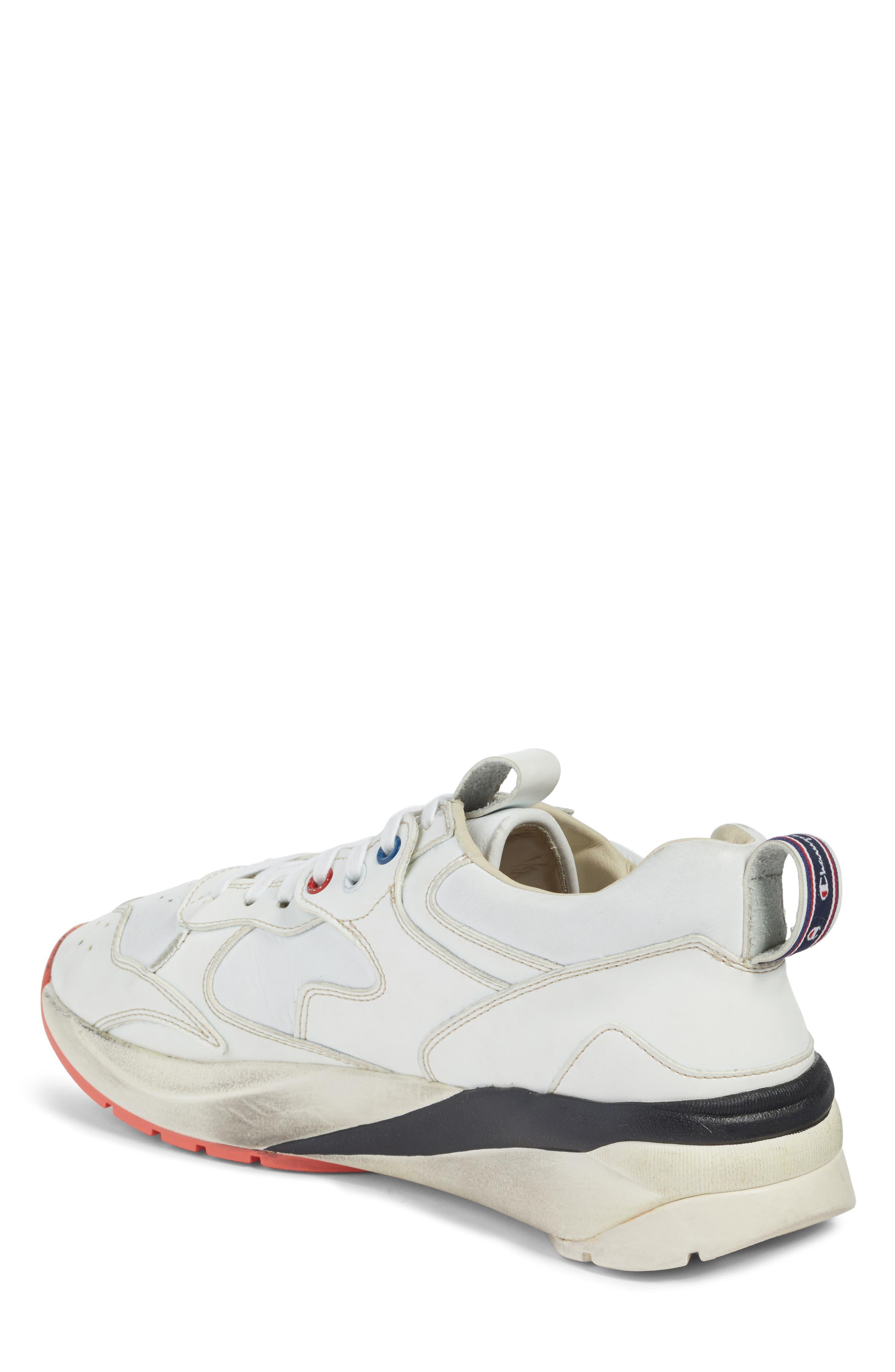 Champion Veloce ATL Sneaker,                             Alternate thumbnail 2, color,                             White Leather