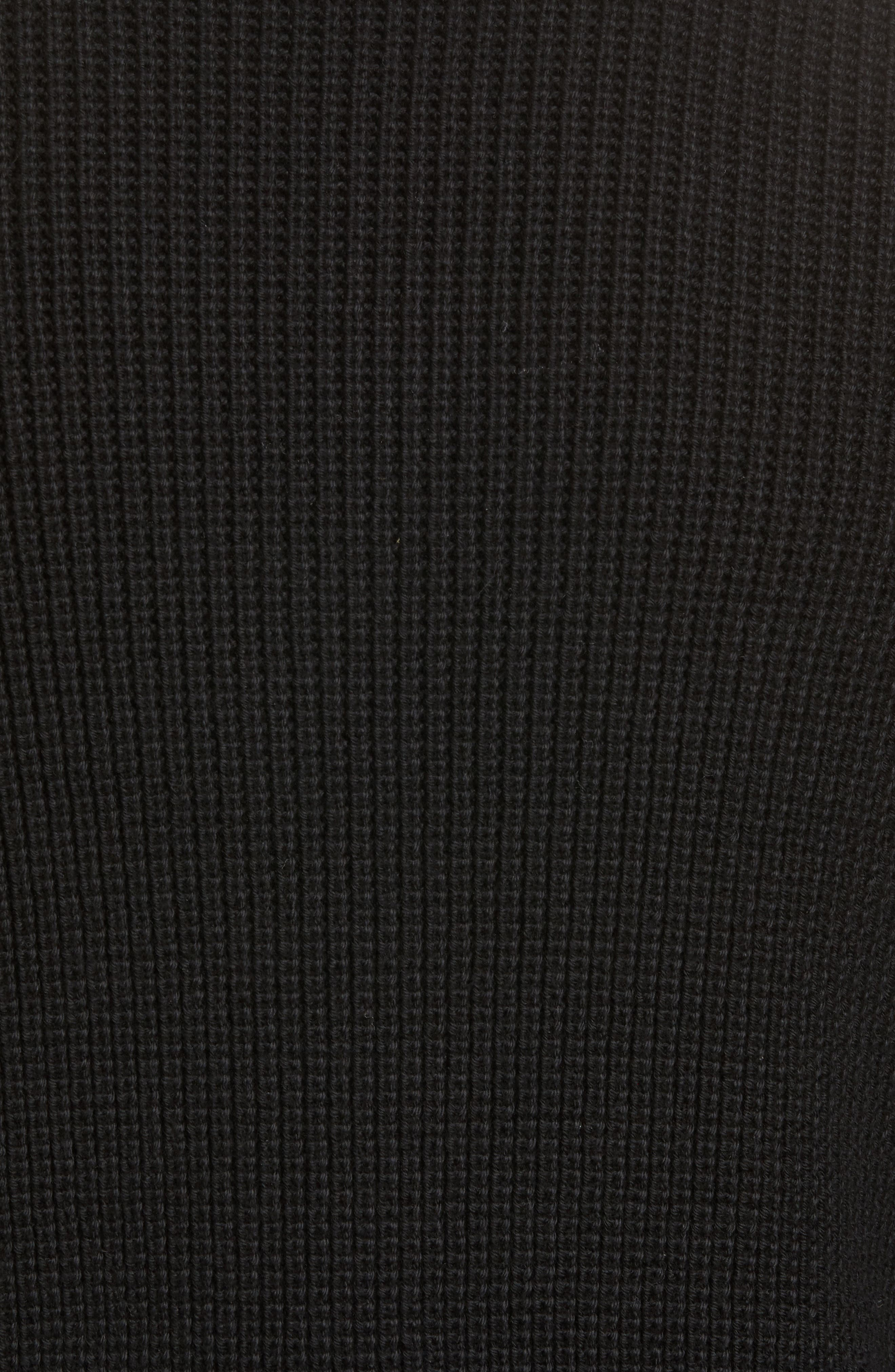 Shawl Collar Cardigan,                             Alternate thumbnail 5, color,                             Black