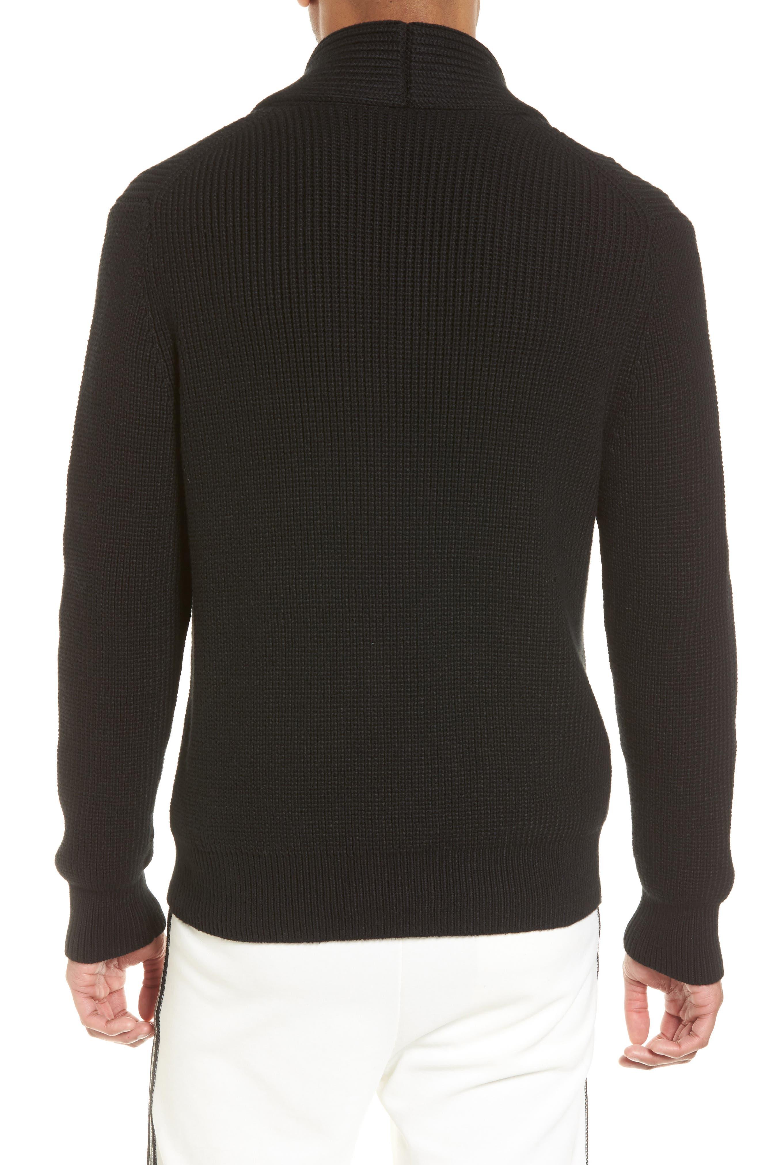 Shawl Collar Cardigan,                             Alternate thumbnail 2, color,                             Black