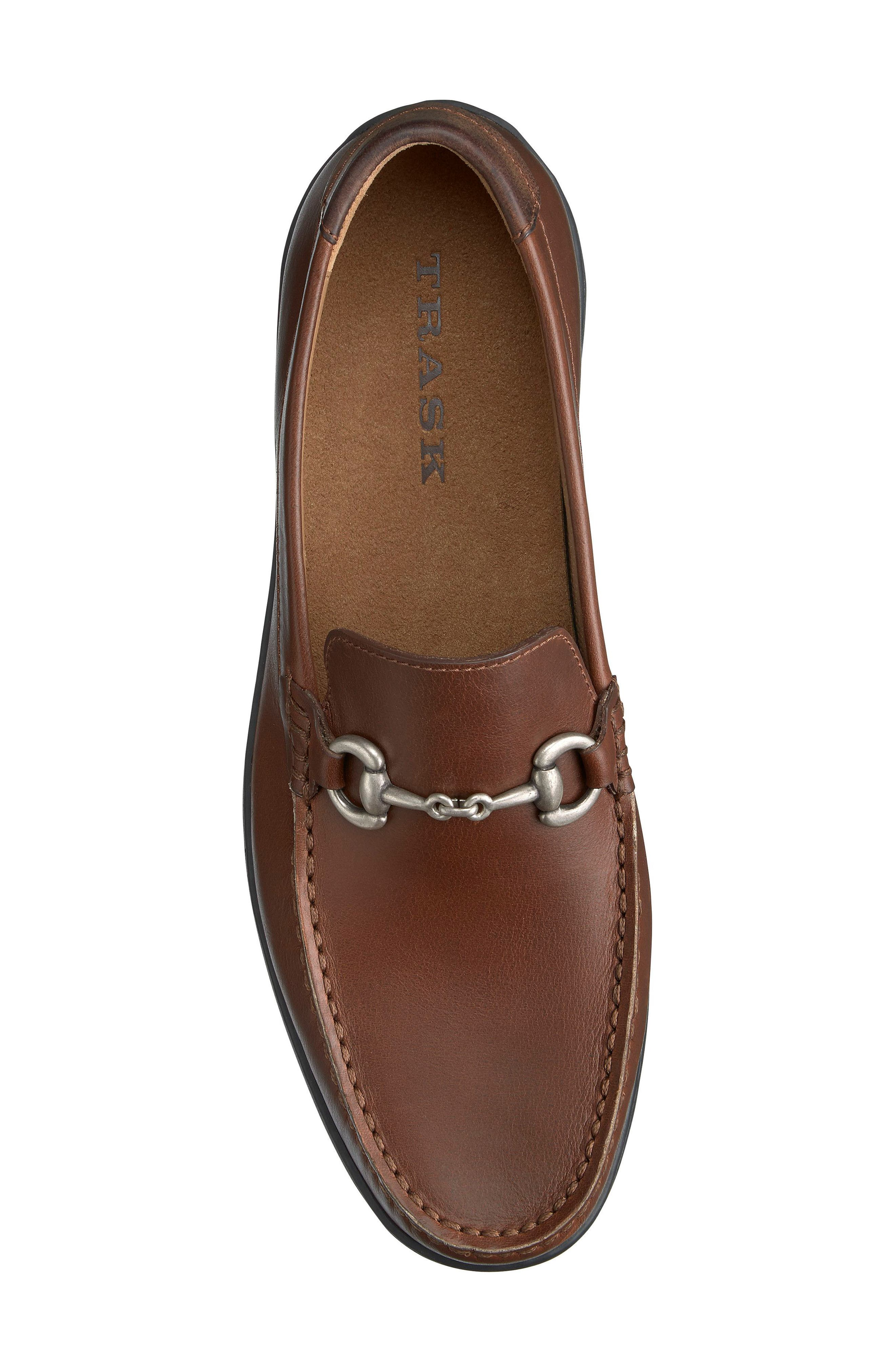 Stalworth Bit Loafer,                             Alternate thumbnail 5, color,                             Brandy Leather