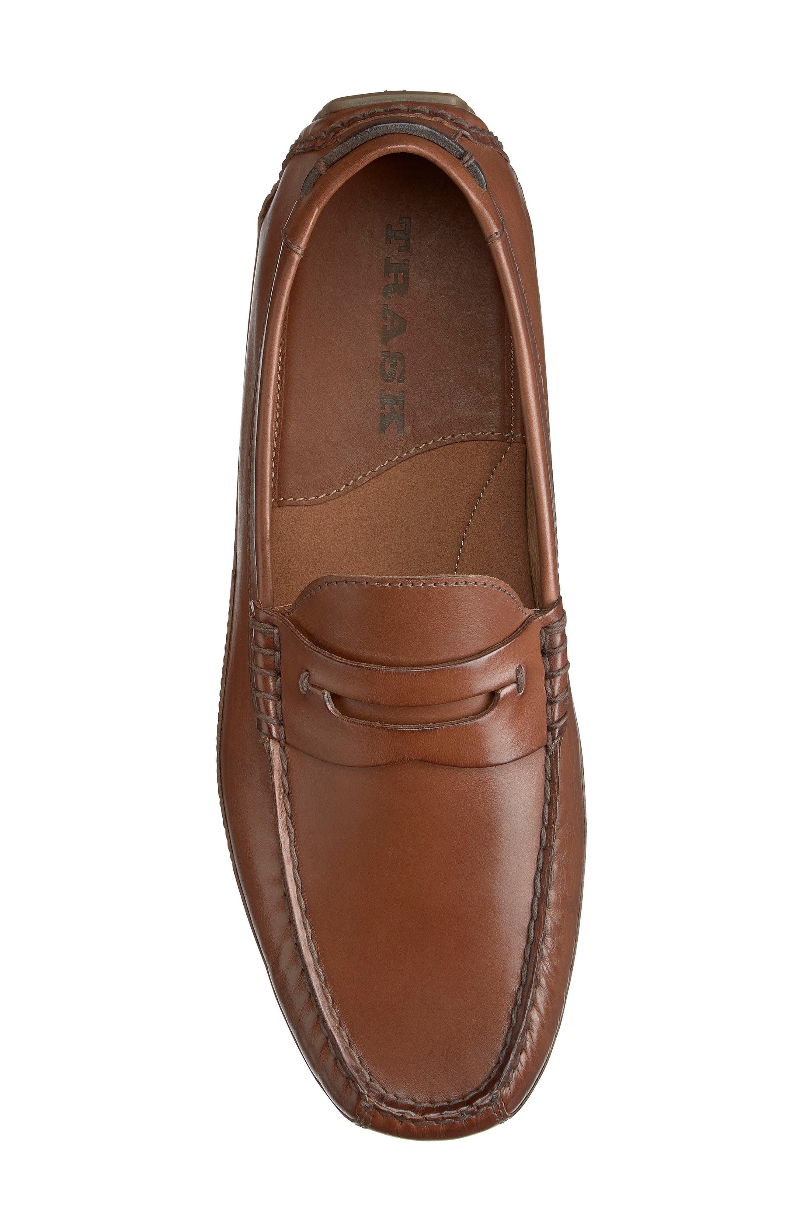Dawson Water Resistant Driving Loafer,                             Alternate thumbnail 5, color,                             Light Brown Leather
