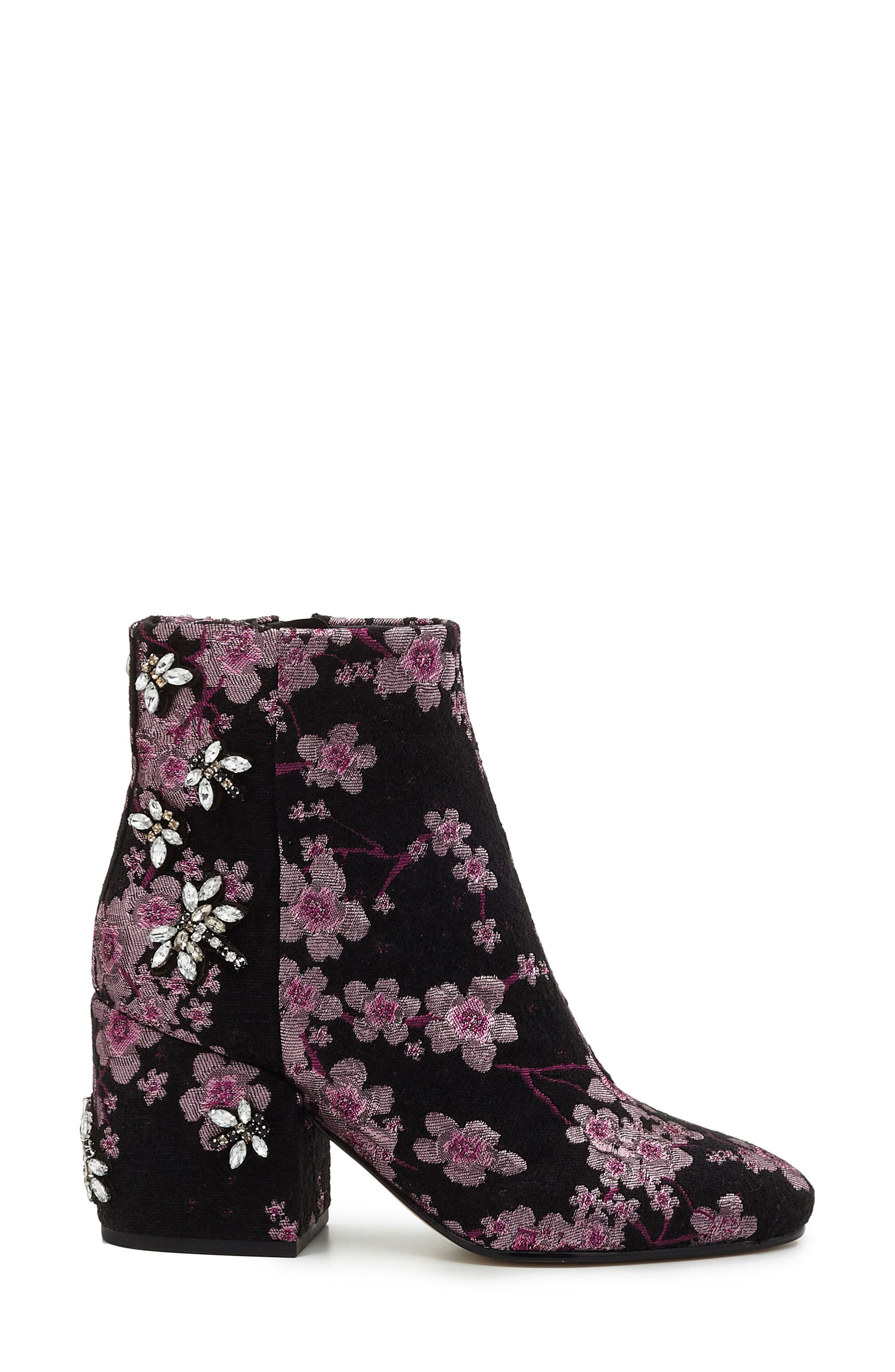 'Taye' Bootie,                             Alternate thumbnail 2, color,                             Pink Multi Brocade