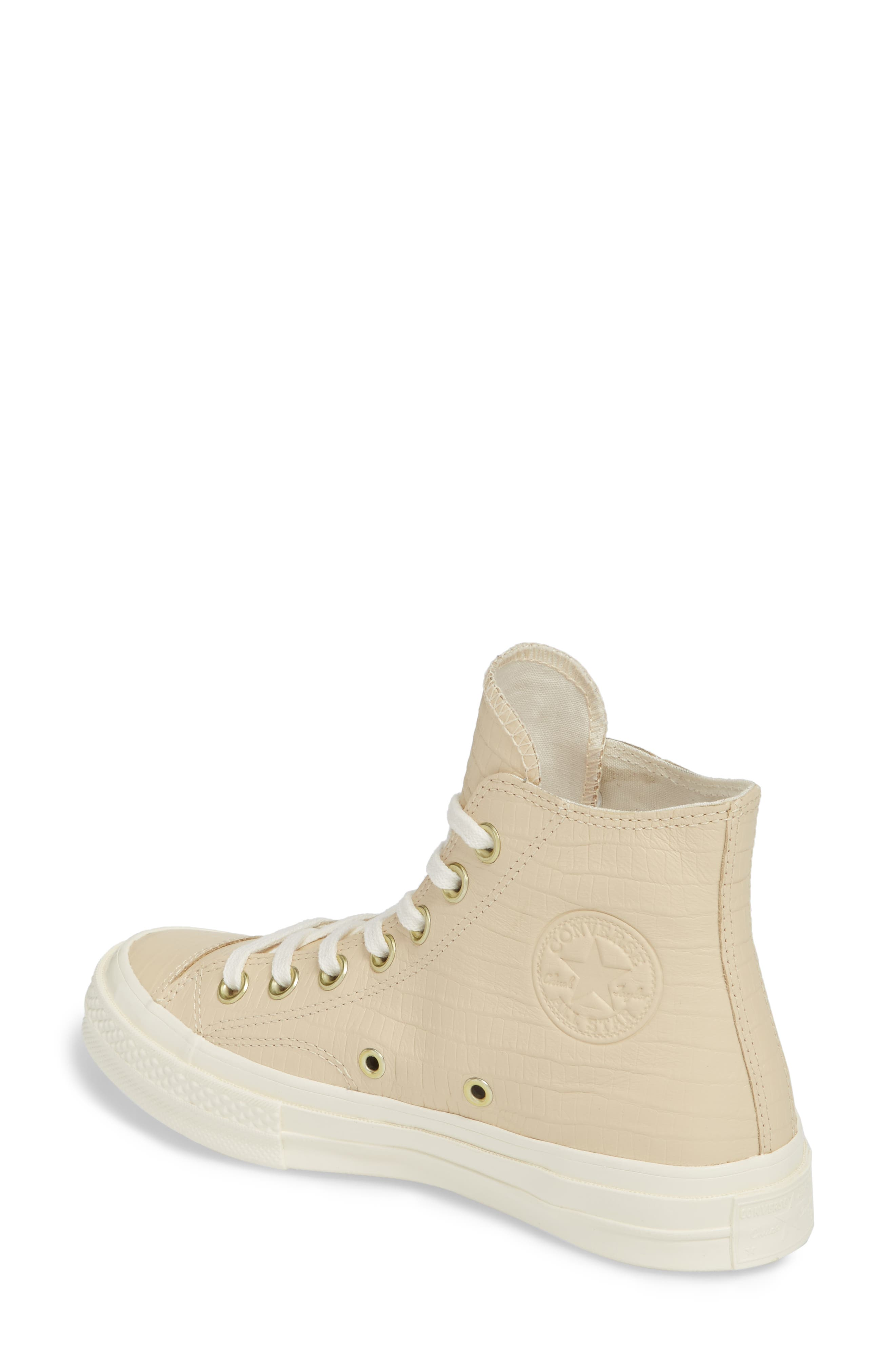 Chuck Taylor<sup>®</sup> All Star<sup>®</sup> CT 70 Reptile High Top Sneaker,                             Alternate thumbnail 2, color,                             Light Twine
