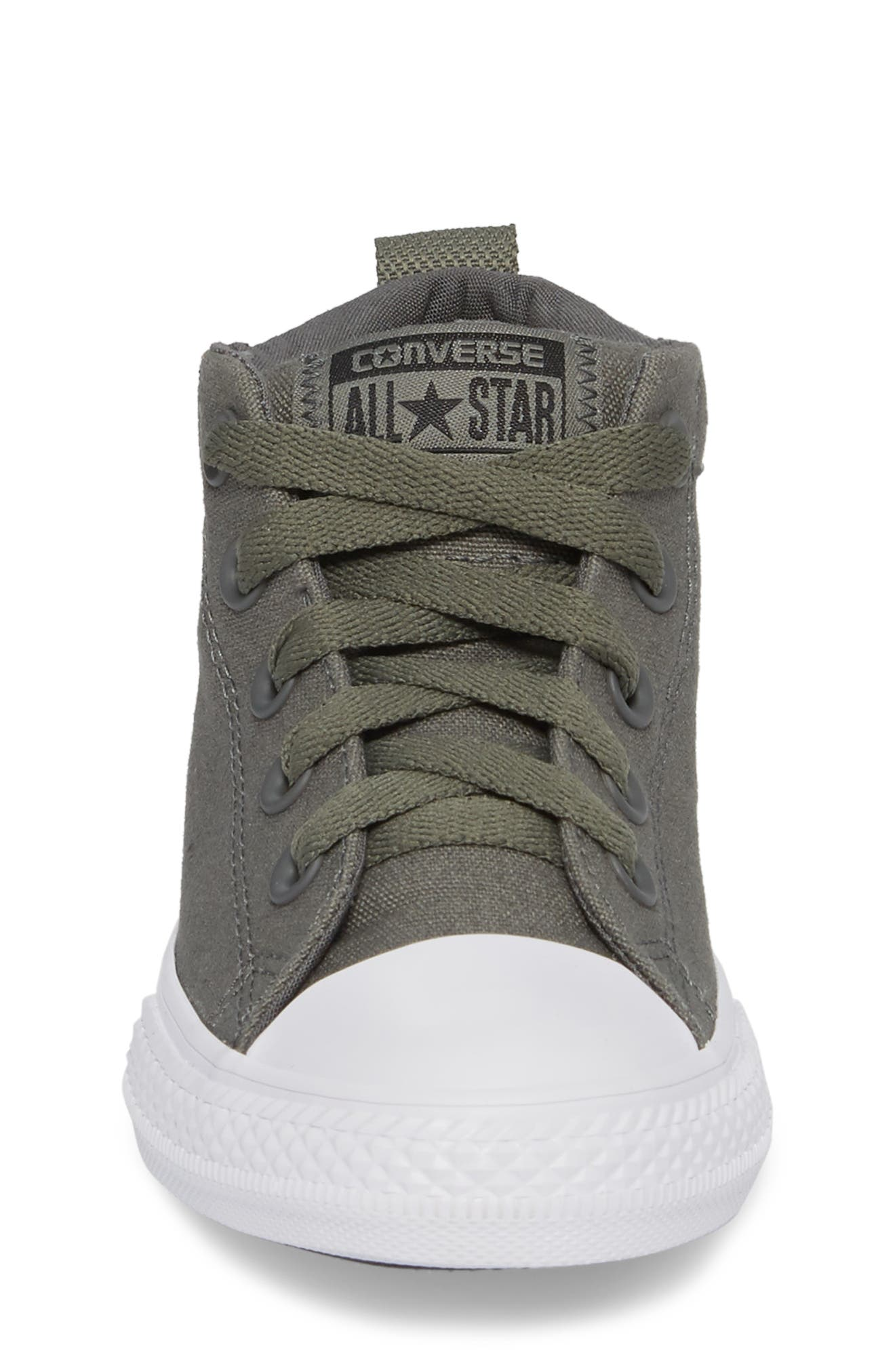 Chuck Taylor<sup>®</sup> All Star<sup>®</sup> Street Colorblock Mid Top Sneaker,                             Alternate thumbnail 4, color,                             River Rock