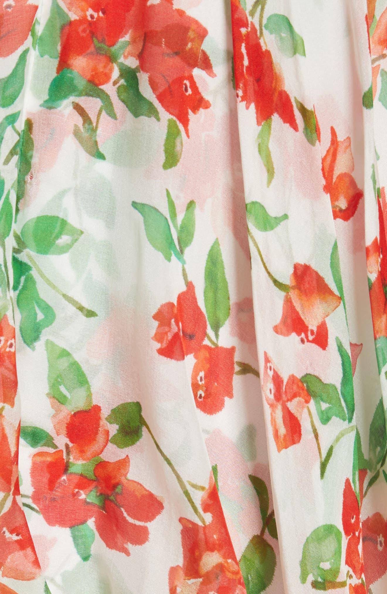 Cleopatra Detachable Sleeve Silk Minidress,                             Alternate thumbnail 6, color,                             White