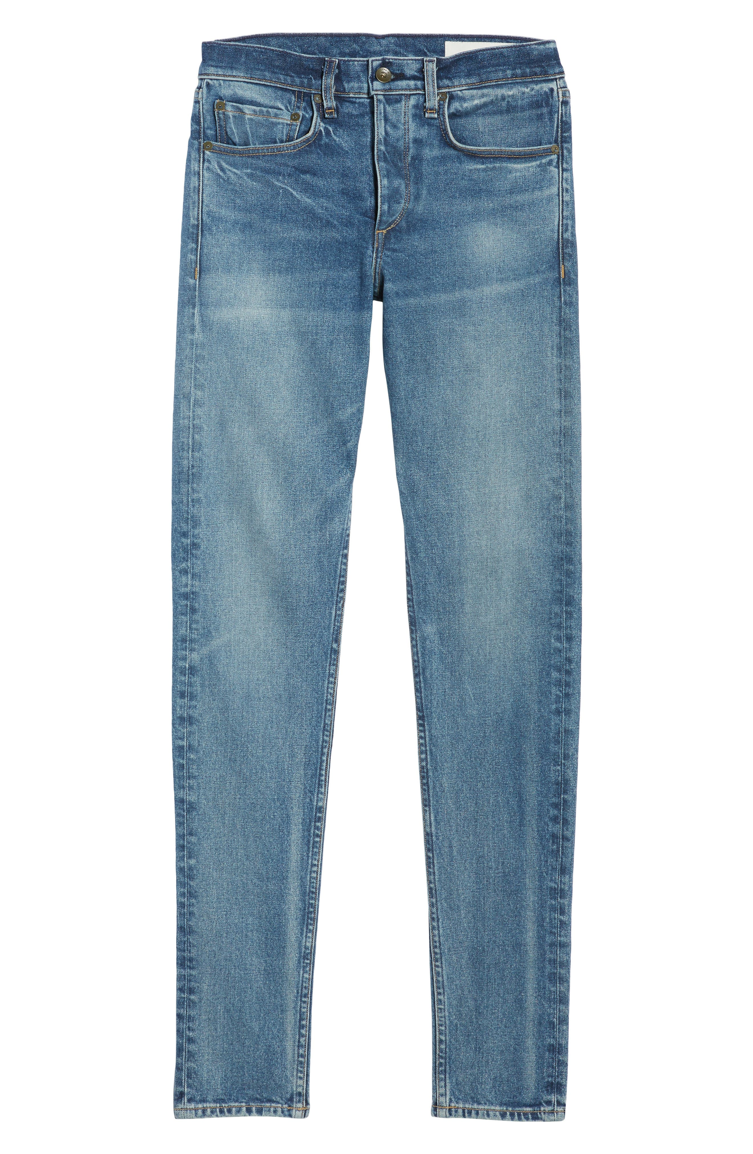 Fit 1 Skinny Fit Jeans,                             Alternate thumbnail 6, color,                             Brighton