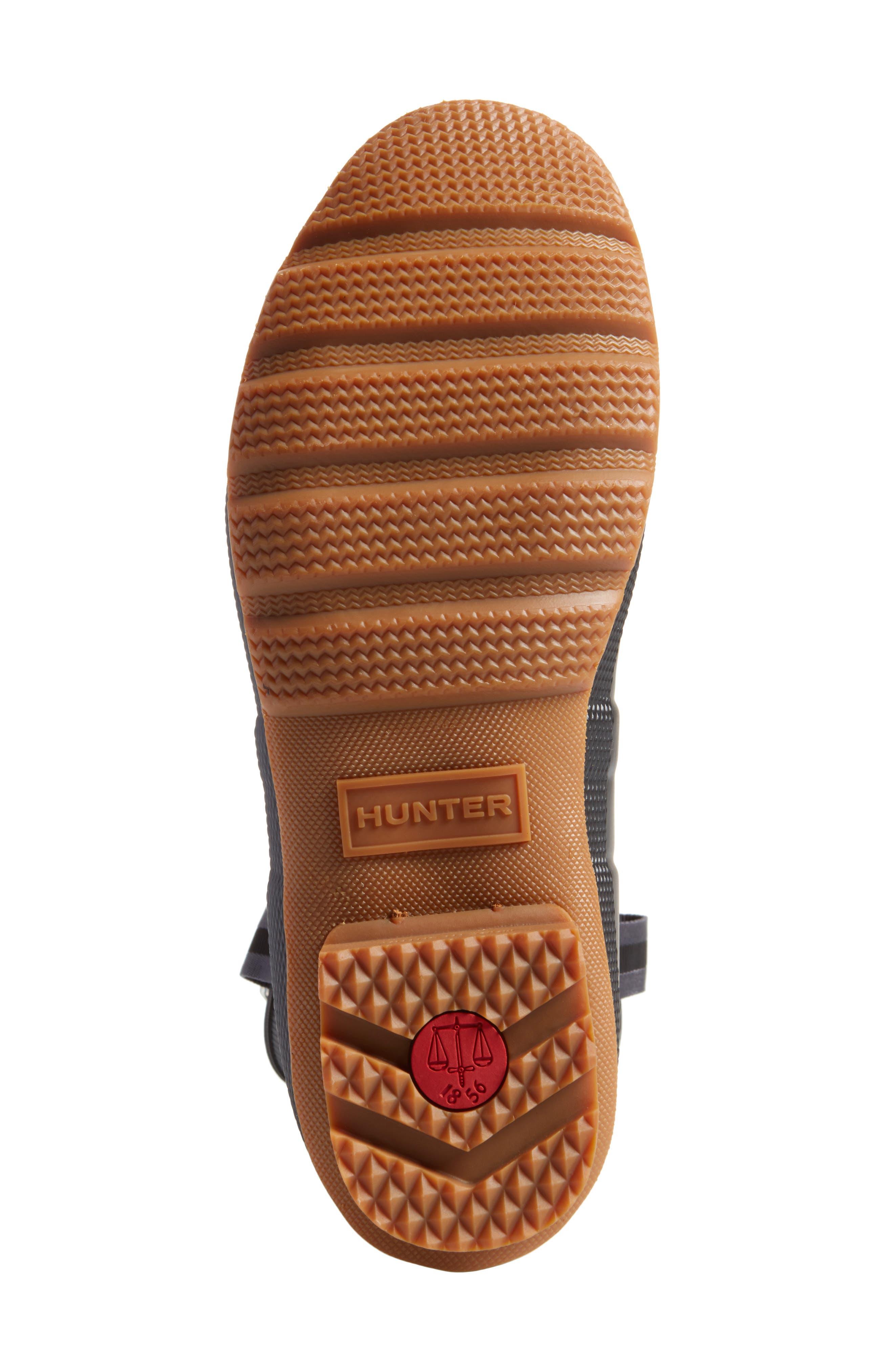 Original Sissinghurst Rain Boot,                             Alternate thumbnail 6, color,                             Black/ Gum