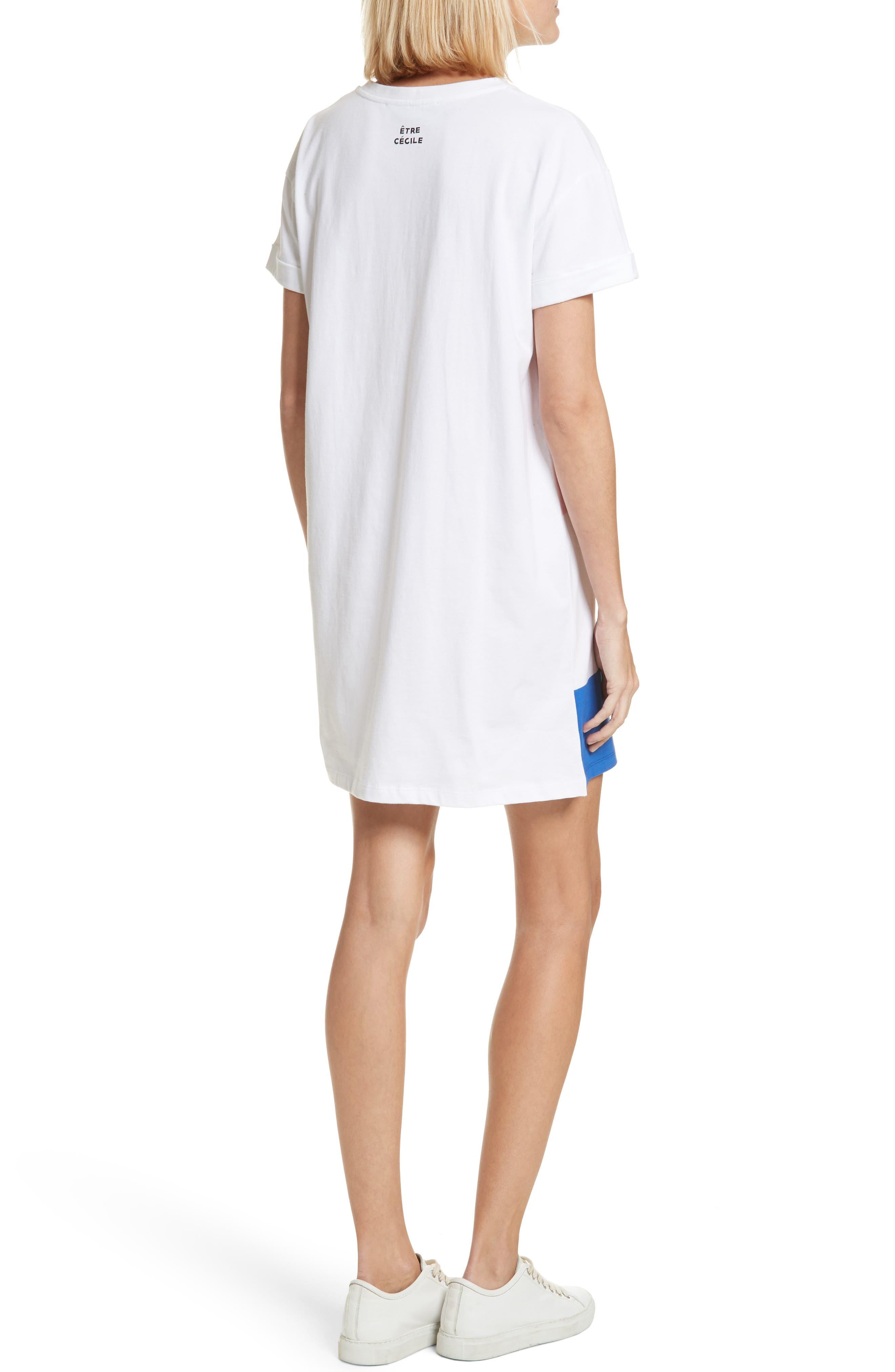 être cécile Big Stripe Oversize Dress,                             Alternate thumbnail 2, color,                             Multi Stripe