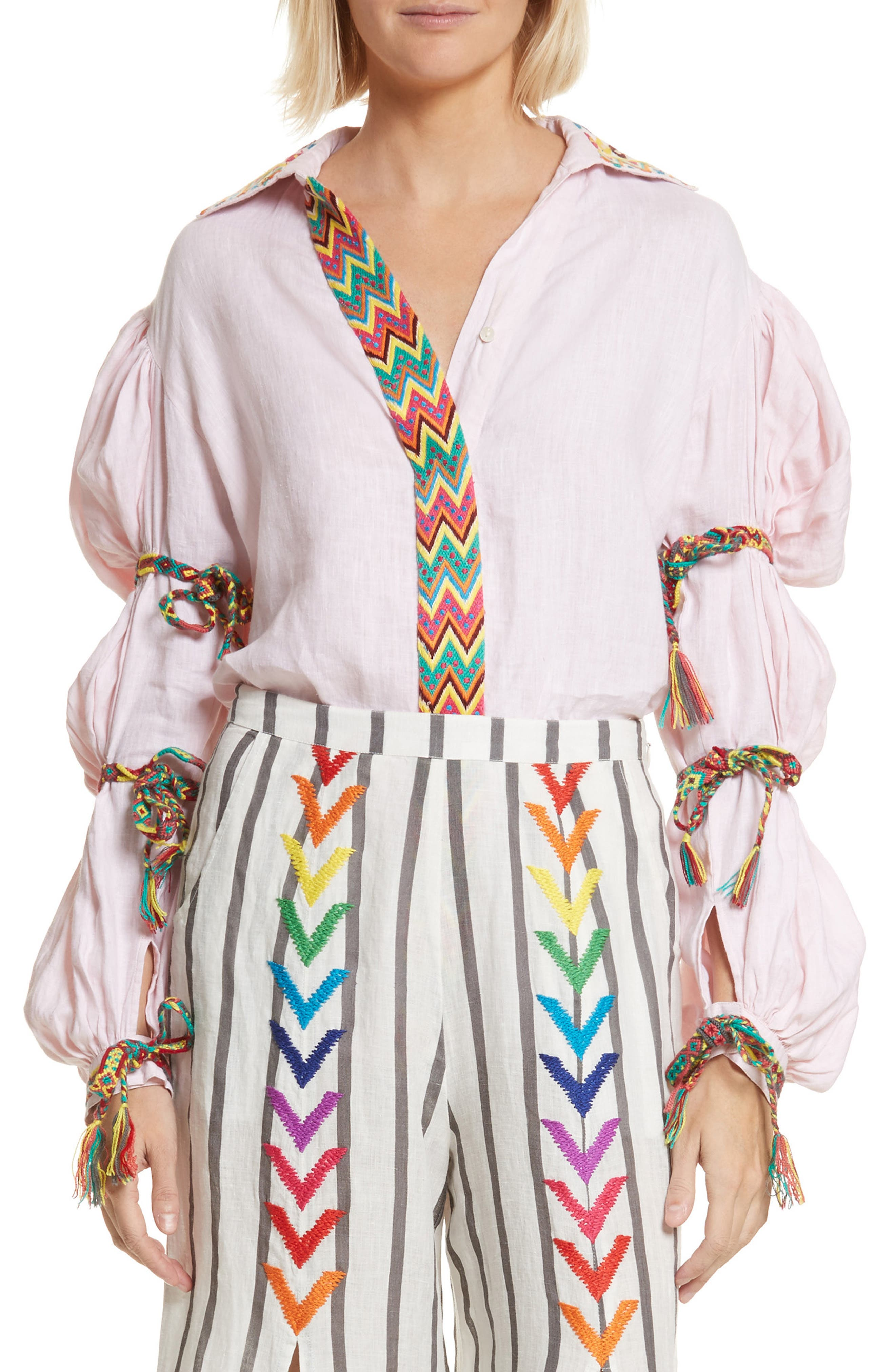 All Things Mochi Lillian Bubble Sleeve Linen Shirt