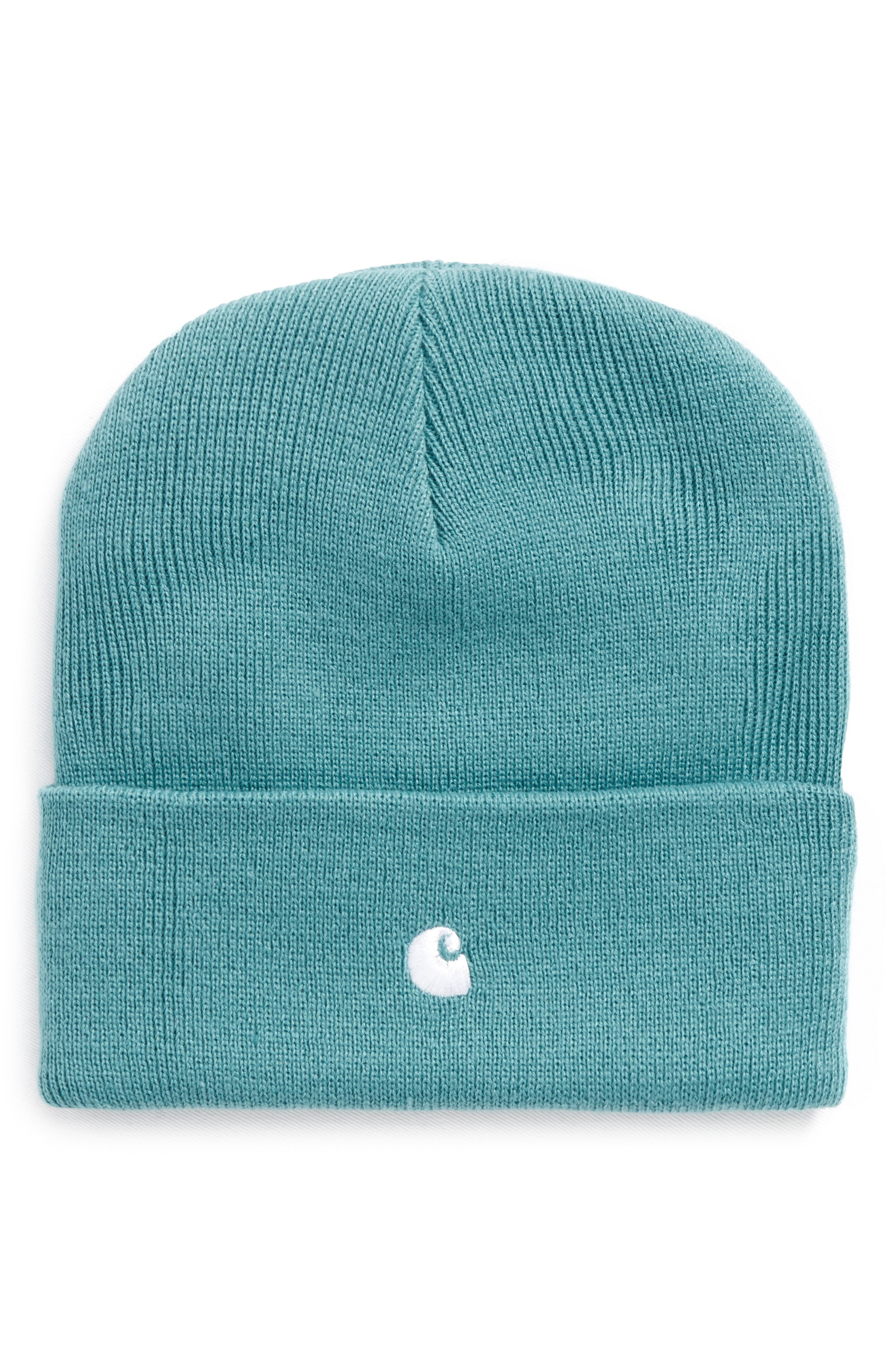 Madison Beanie,                             Main thumbnail 1, color,                             71590-Soft Teal/White