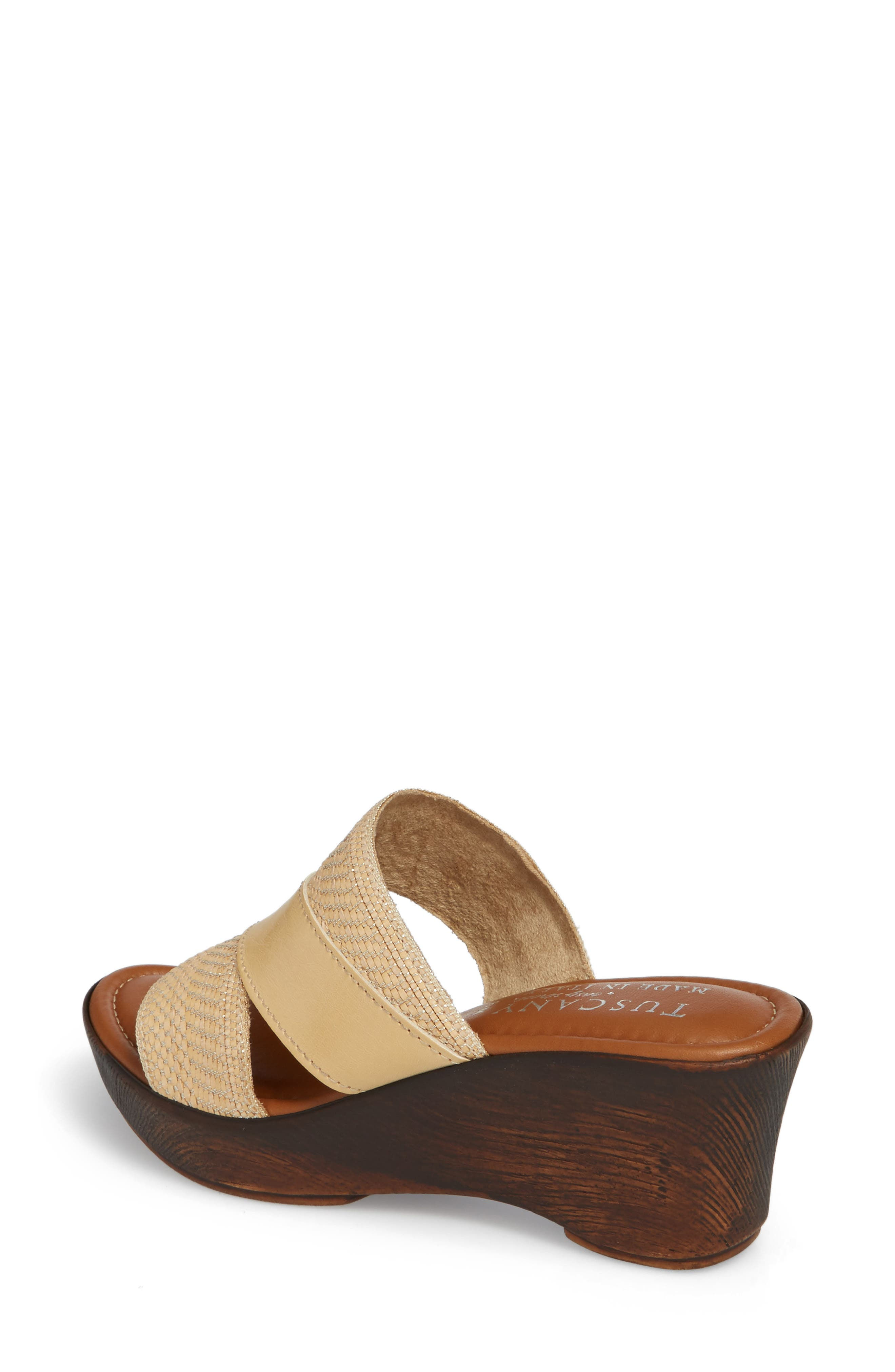 by Easy Street<sup>®</sup> Positano Sandal,                             Alternate thumbnail 2, color,                             Beige/ Woven Faux Leather