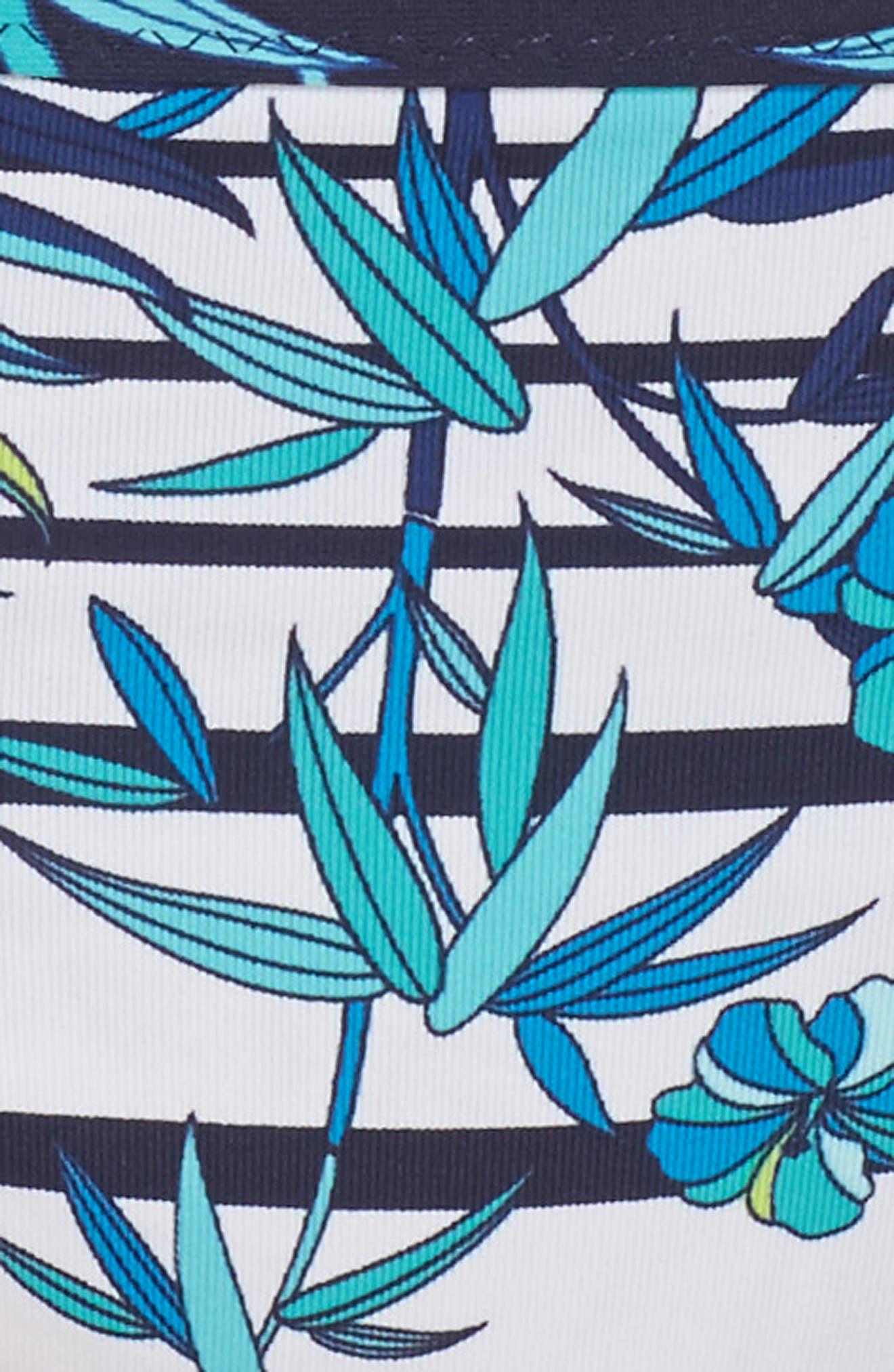Tropical Swirl Reversible Bikini Bottoms,                             Alternate thumbnail 8, color,                             Blue/ White
