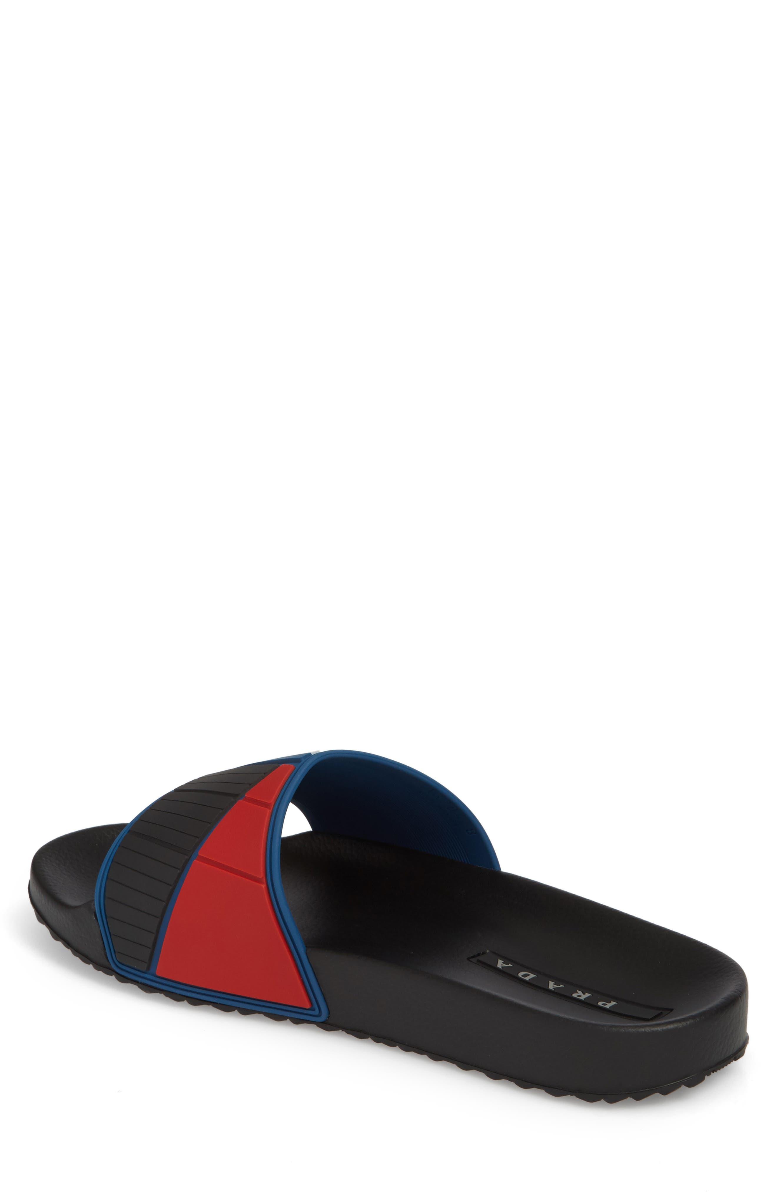 Alternate Image 2  - Prada Linea Rossa Logo Slide Sandal (Men)
