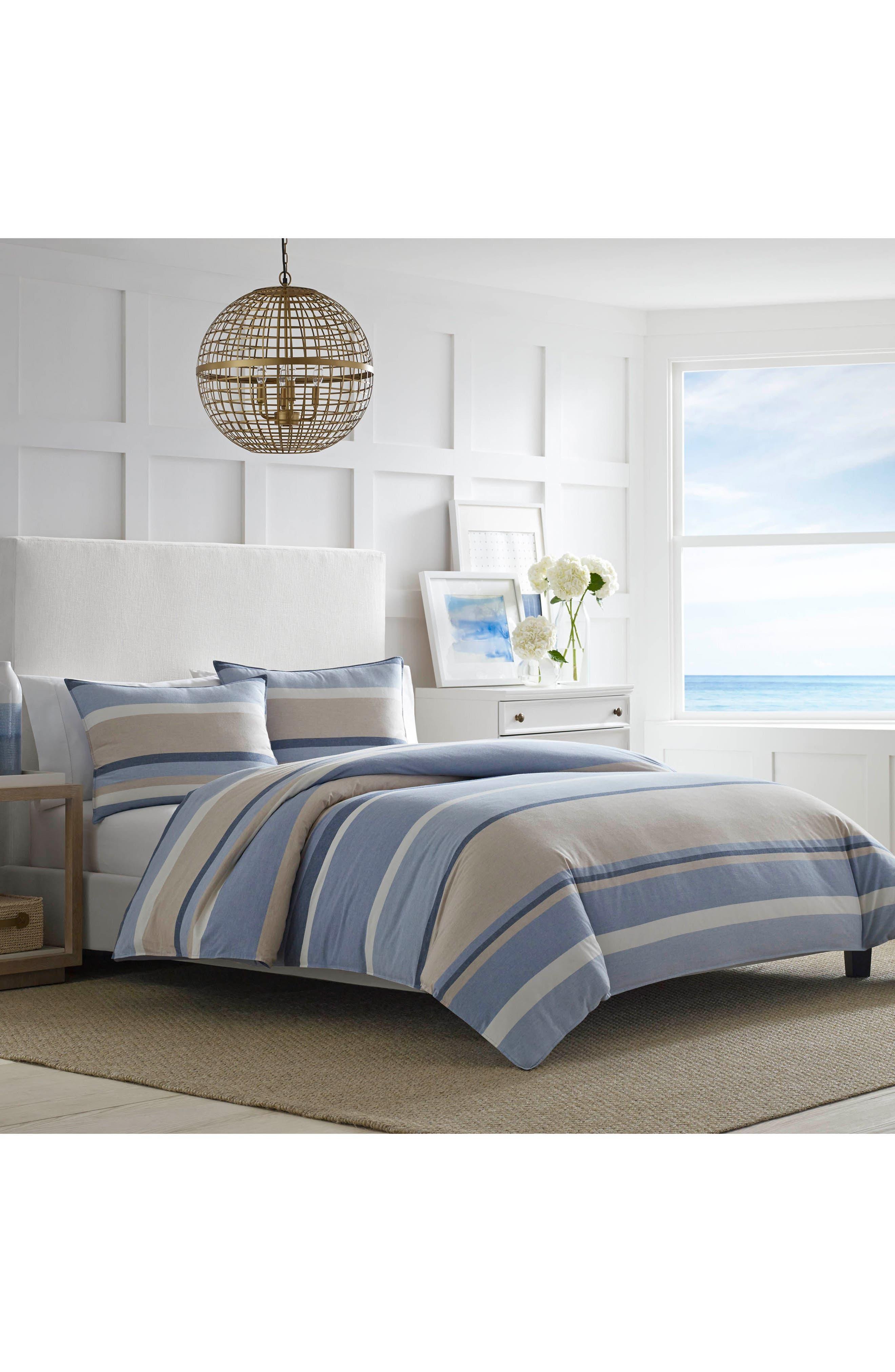 Abbot Comforter & Sham Set,                             Main thumbnail 1, color,                             Medium Blue