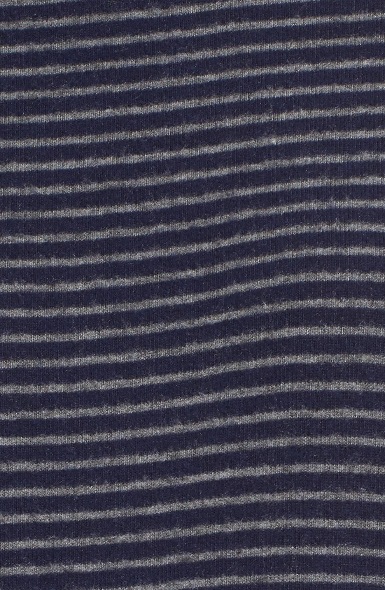 Stripe Draped Hoodie,                             Alternate thumbnail 5, color,                             Navy