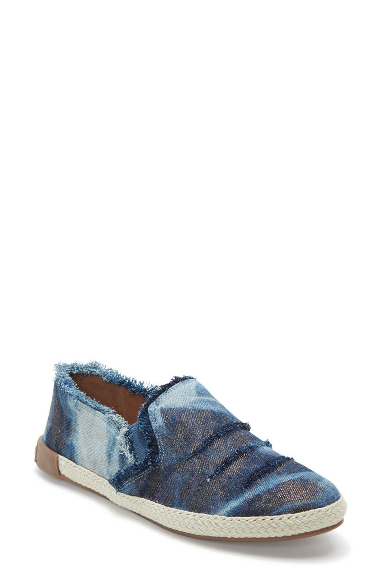 Adam Tucker Marin Slip-On Sneaker,                             Main thumbnail 1, color,                             Blue Champagne Denim Fabric