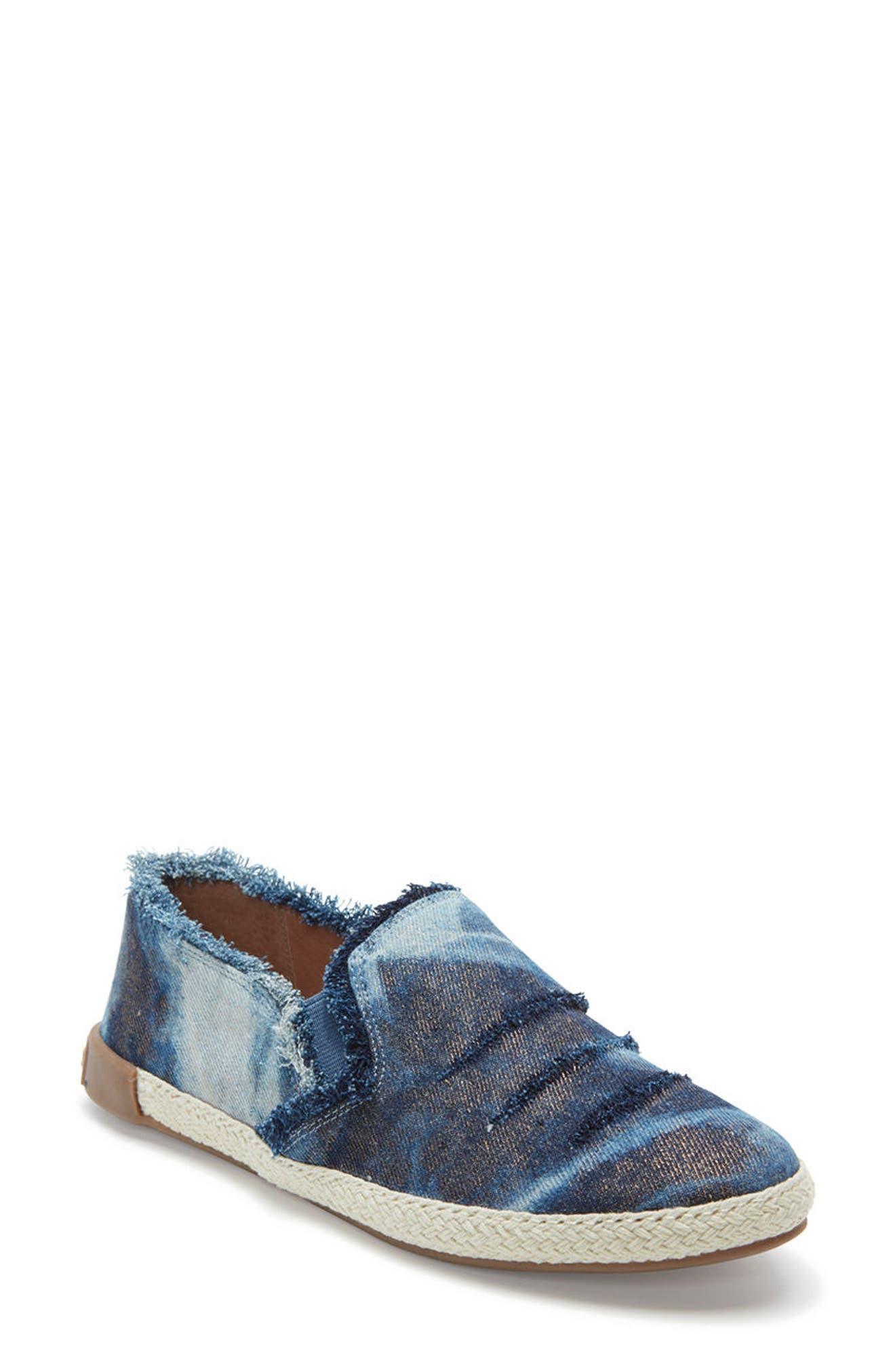 Adam Tucker Marin Slip-On Sneaker,                         Main,                         color, Blue Champagne Denim Fabric
