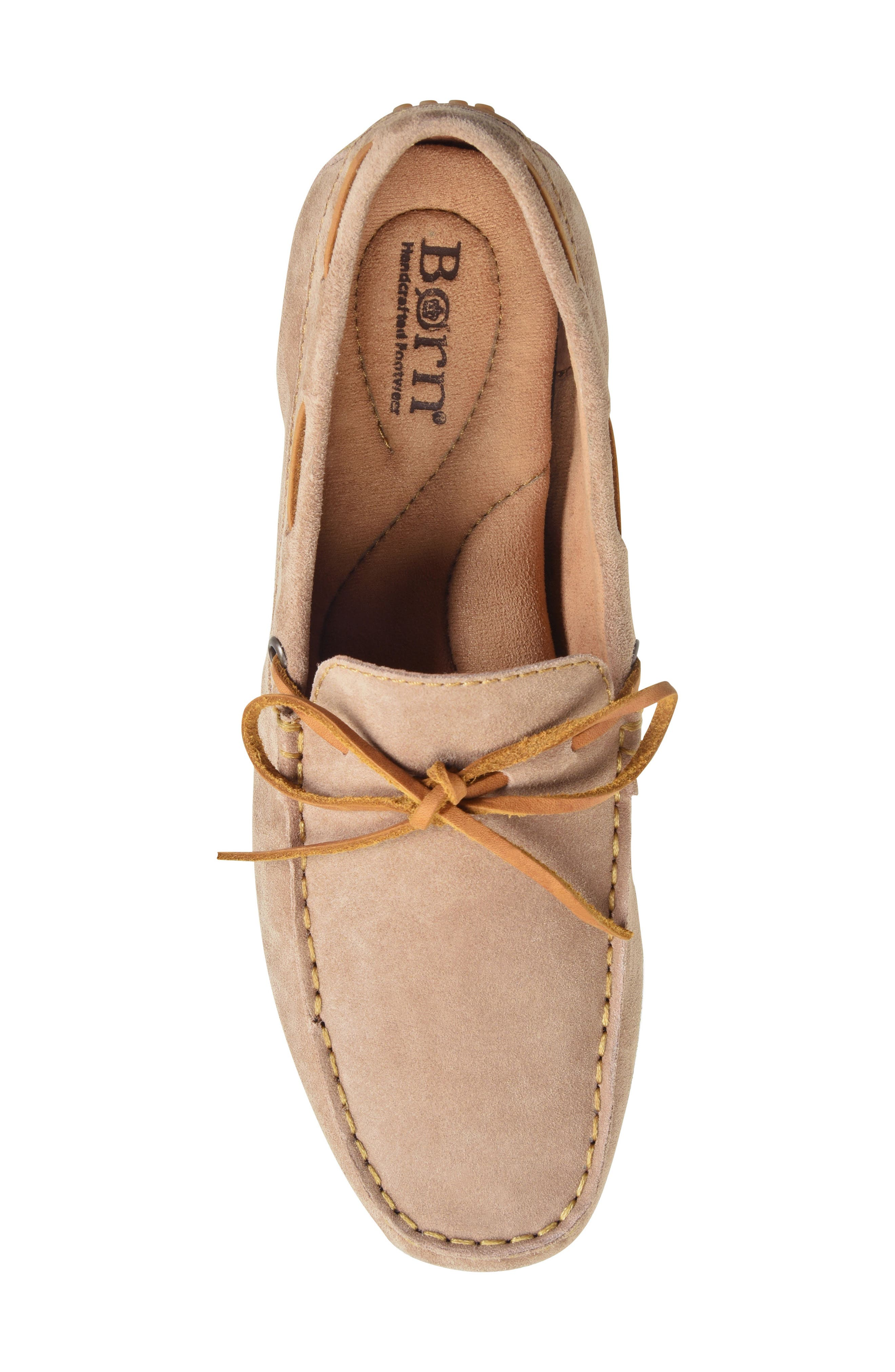 Virgo Driving Shoe,                             Alternate thumbnail 5, color,                             Taupe Suede