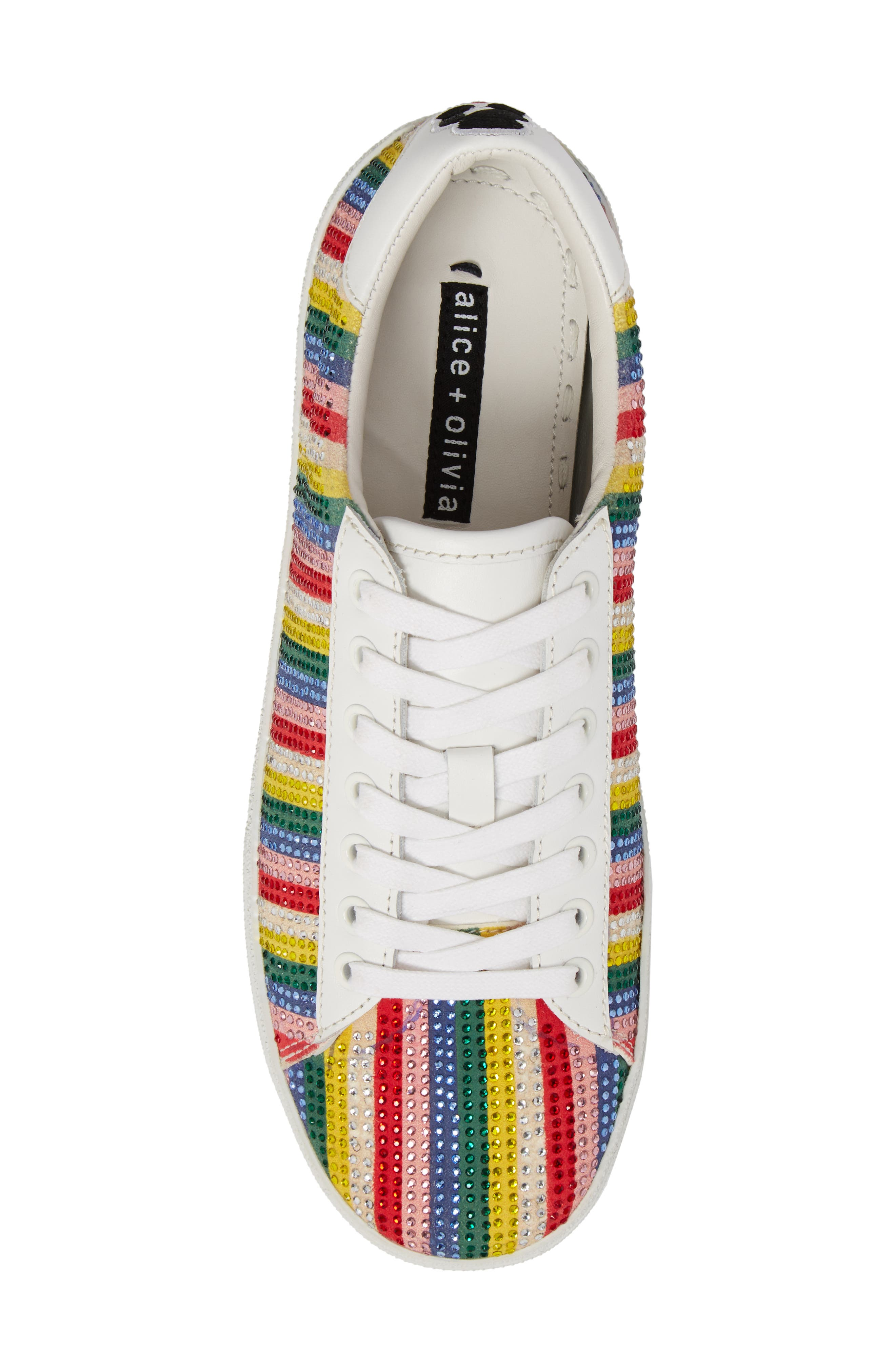 Cassidy Crystal Embellished Sneaker,                             Alternate thumbnail 5, color,                             Multi