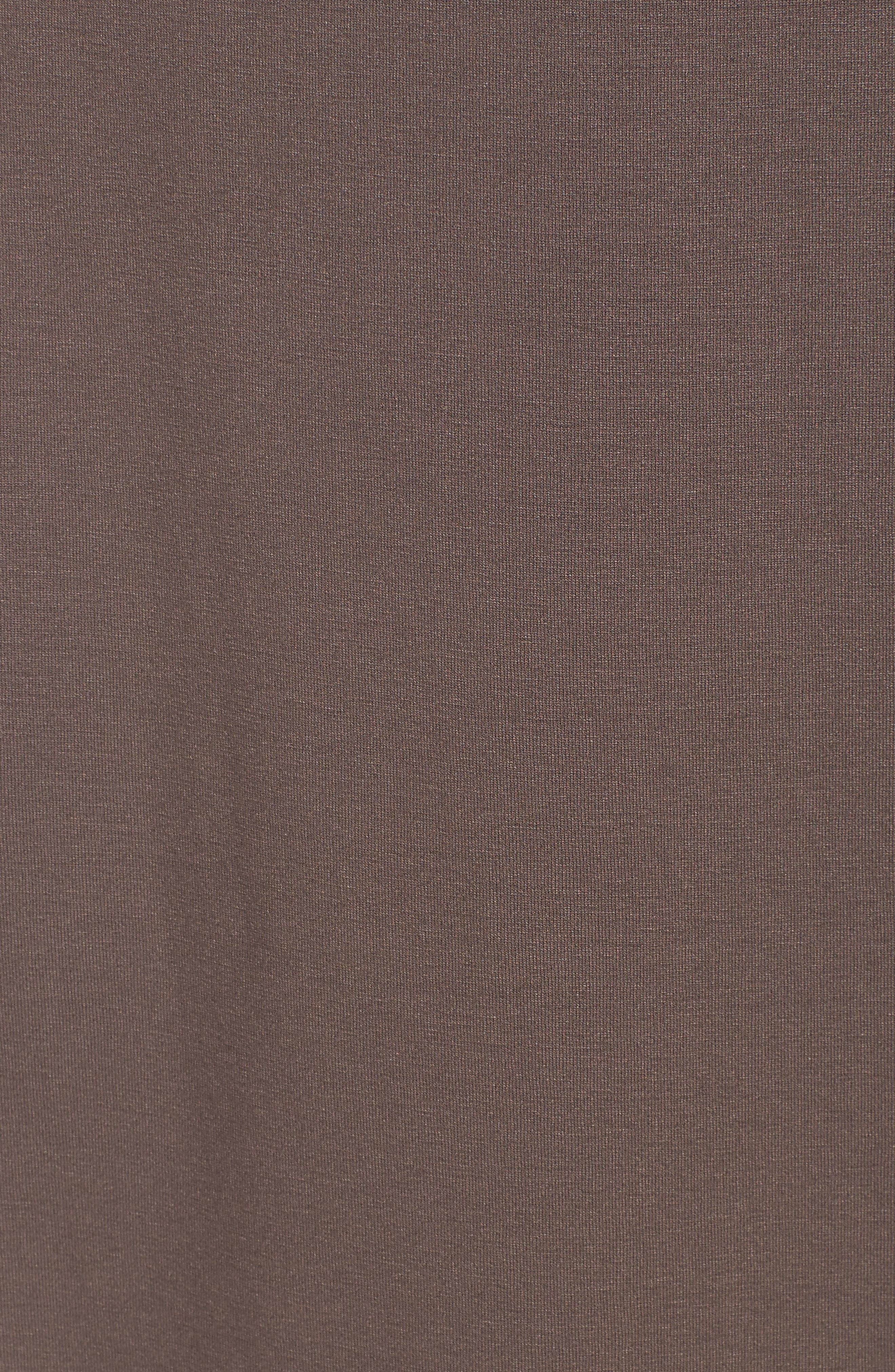 Faux Wrap Jersey Skirt,                             Alternate thumbnail 5, color,                             Rye