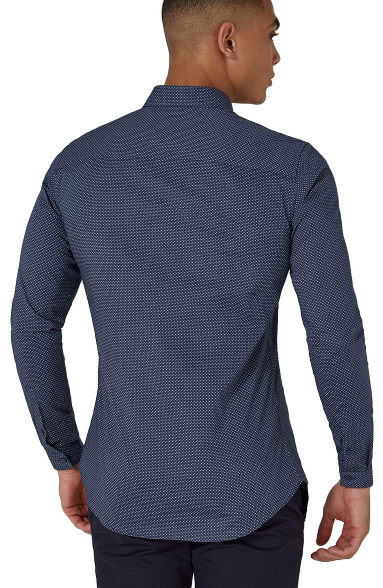 Alternate Image 2  - Topman Polka Dot Stretch Smart Shirt