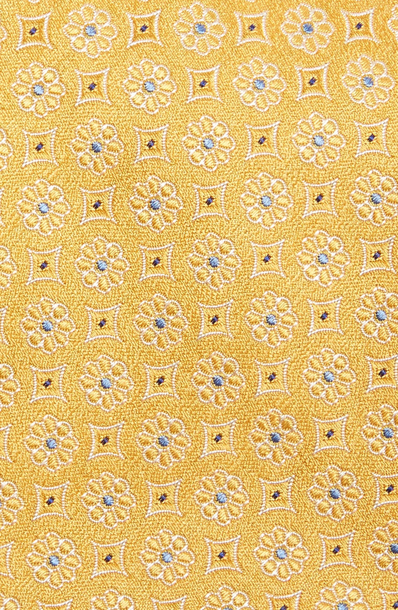 Medallion Silk Tie,                             Alternate thumbnail 2, color,                             Yellow