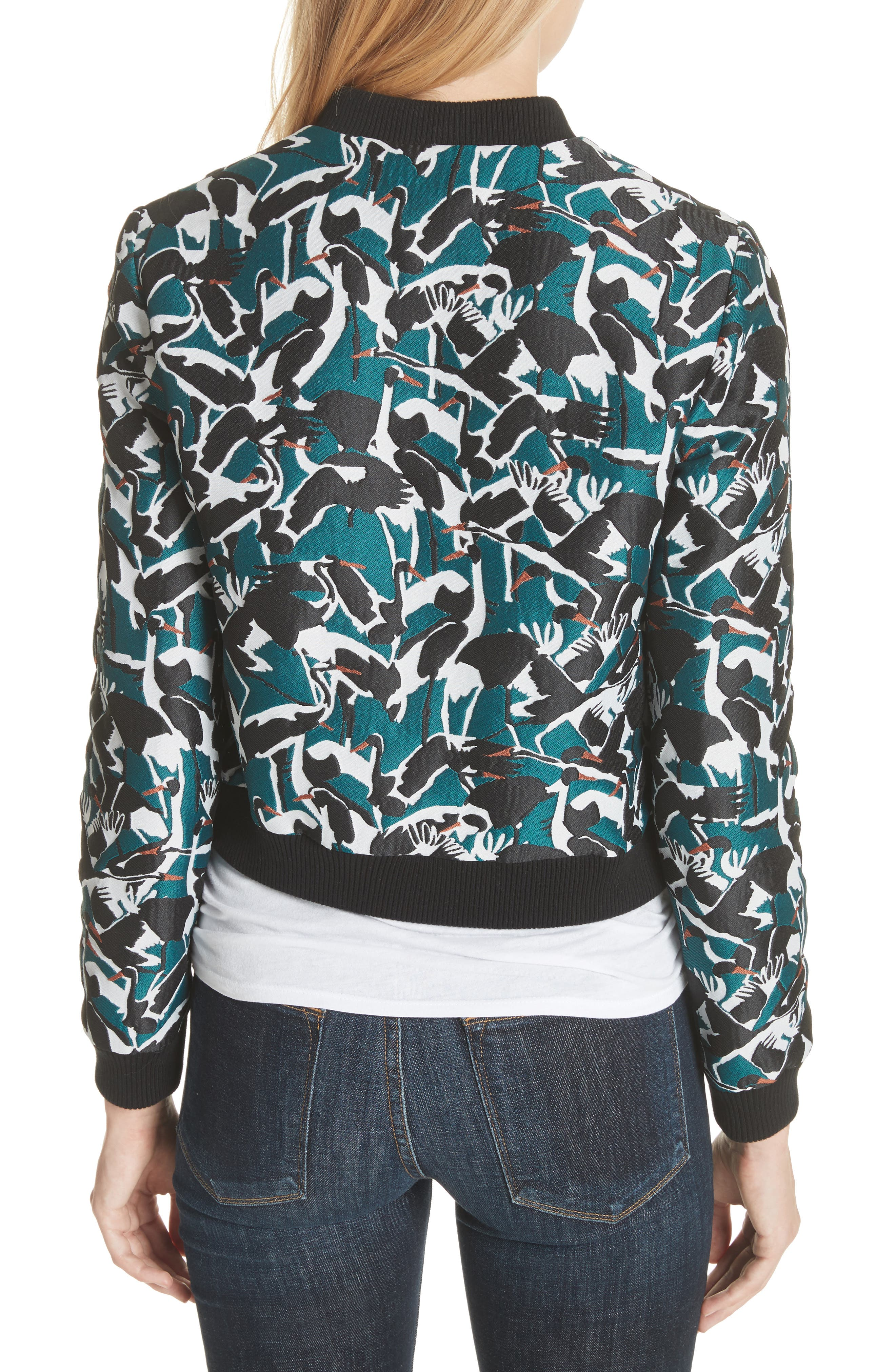 Colour by London Joeshi Bomber Jacket,                             Alternate thumbnail 2, color,                             Teal