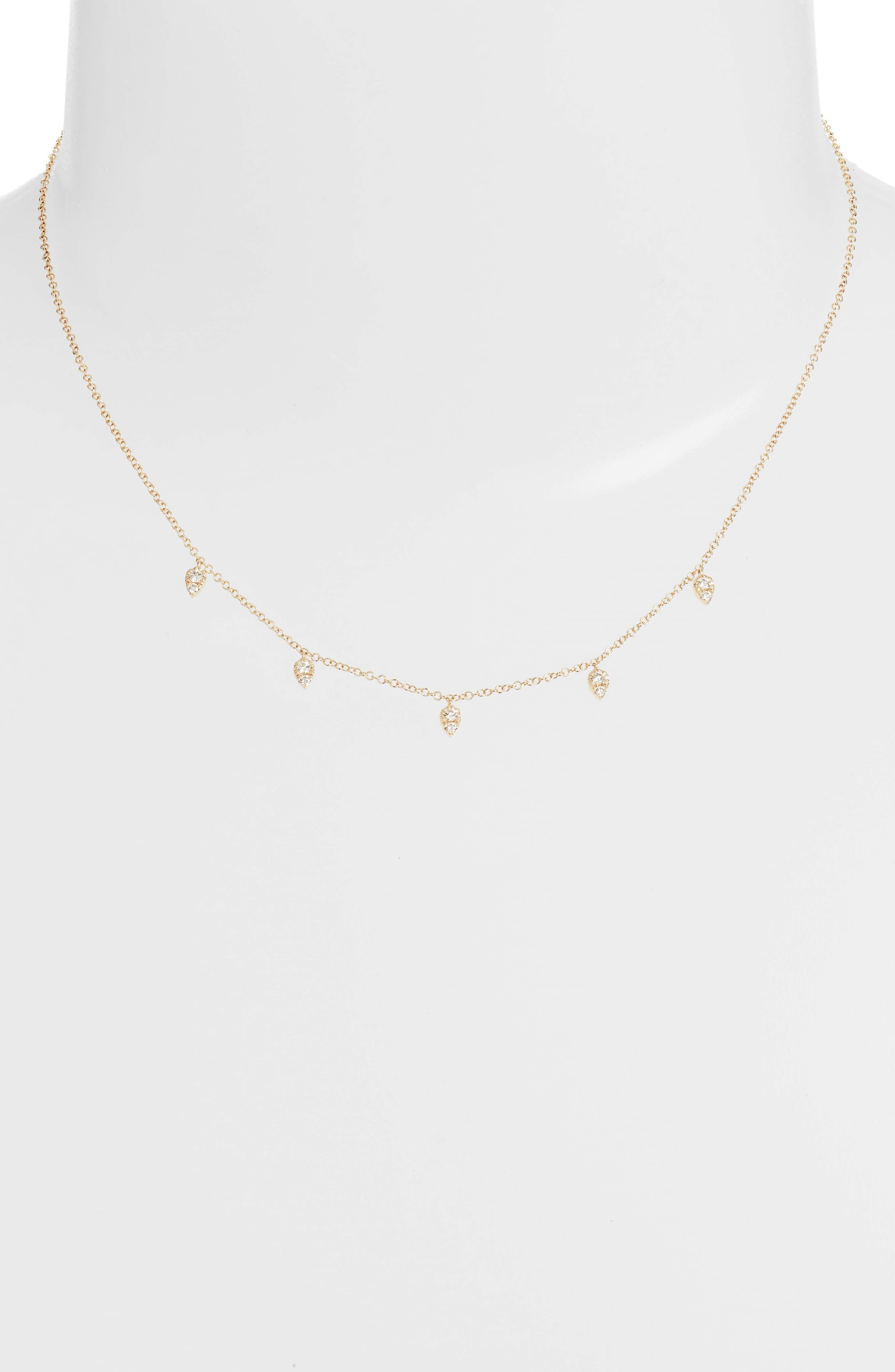 Mini Multi Teardrop Choker Necklace,                         Main,                         color, Yellow Gold