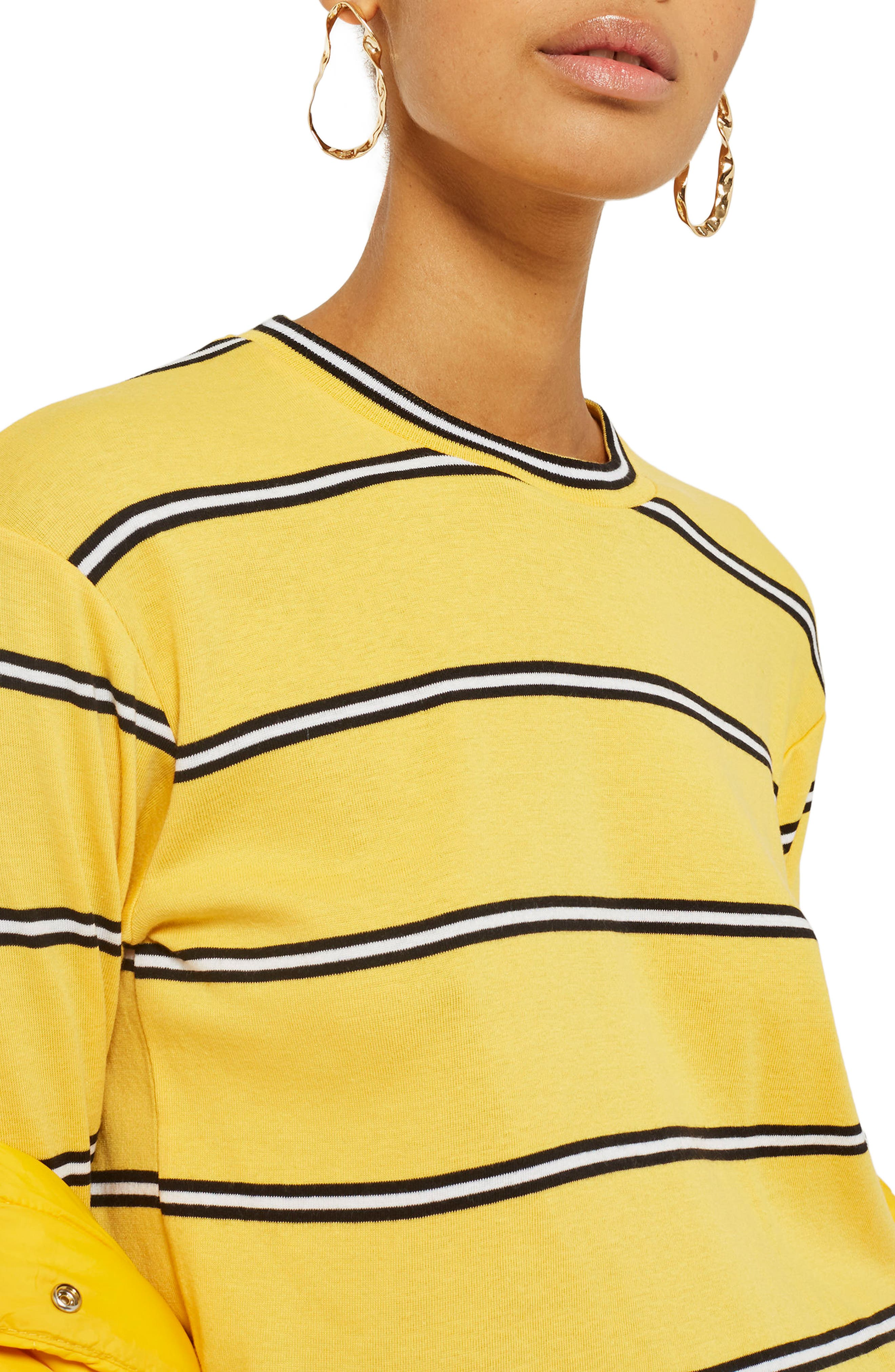 Stripe Tee,                             Main thumbnail 1, color,                             Yellow