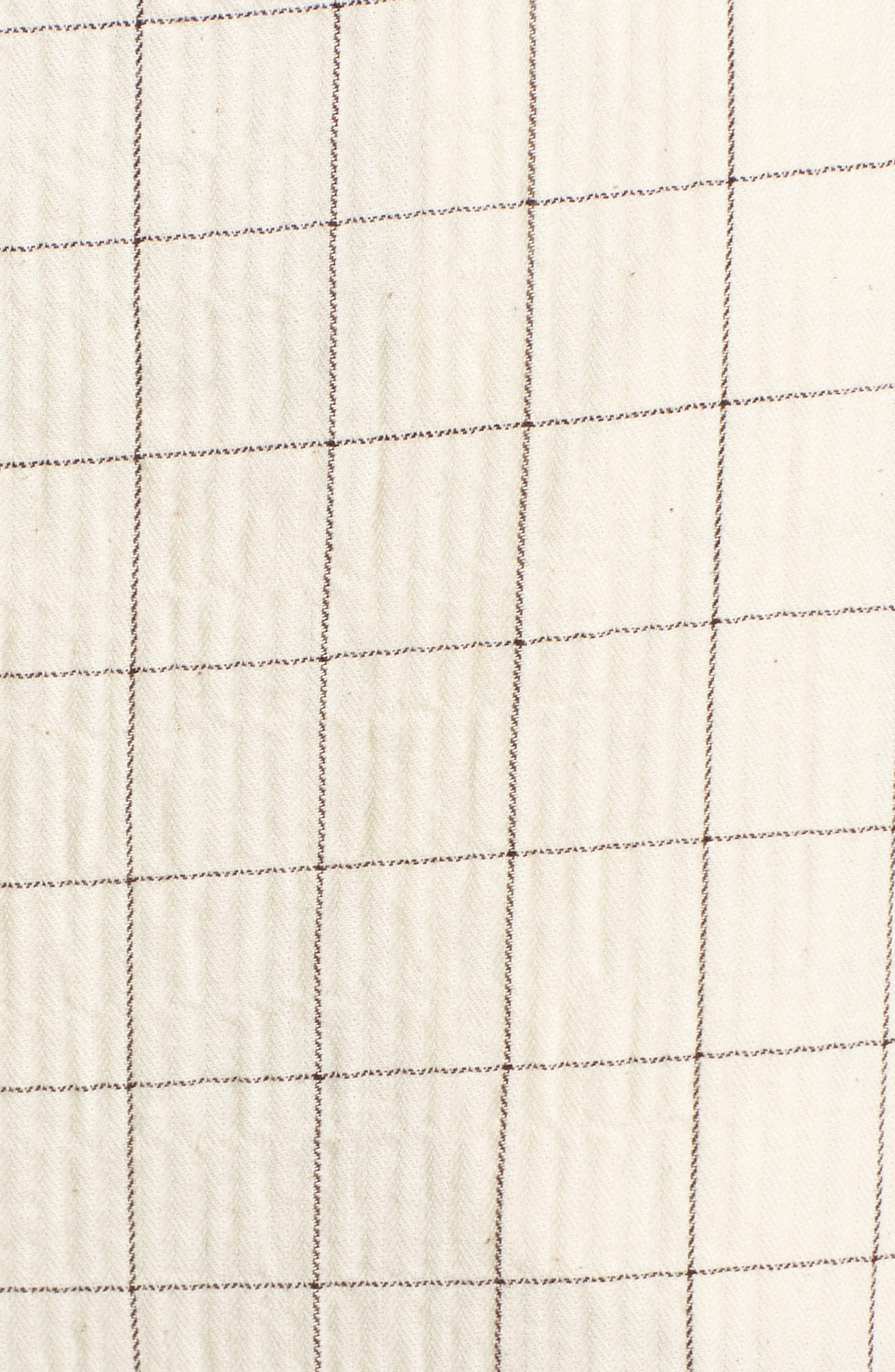 Plaid Culottes,                             Alternate thumbnail 6, color,                             Beige