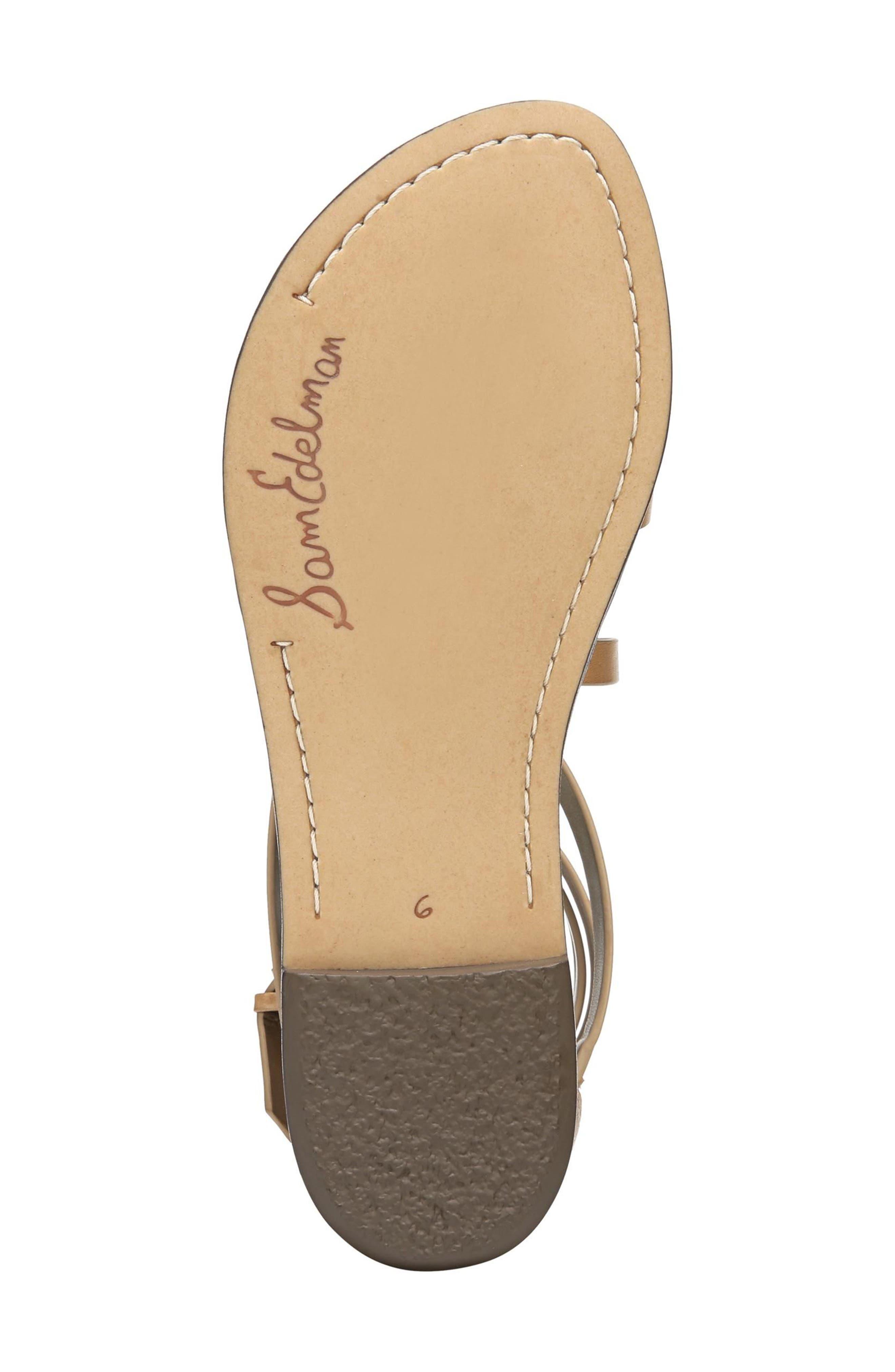 Ganesa Strappy Sandal,                             Alternate thumbnail 6, color,                             Golden Caramel Leather